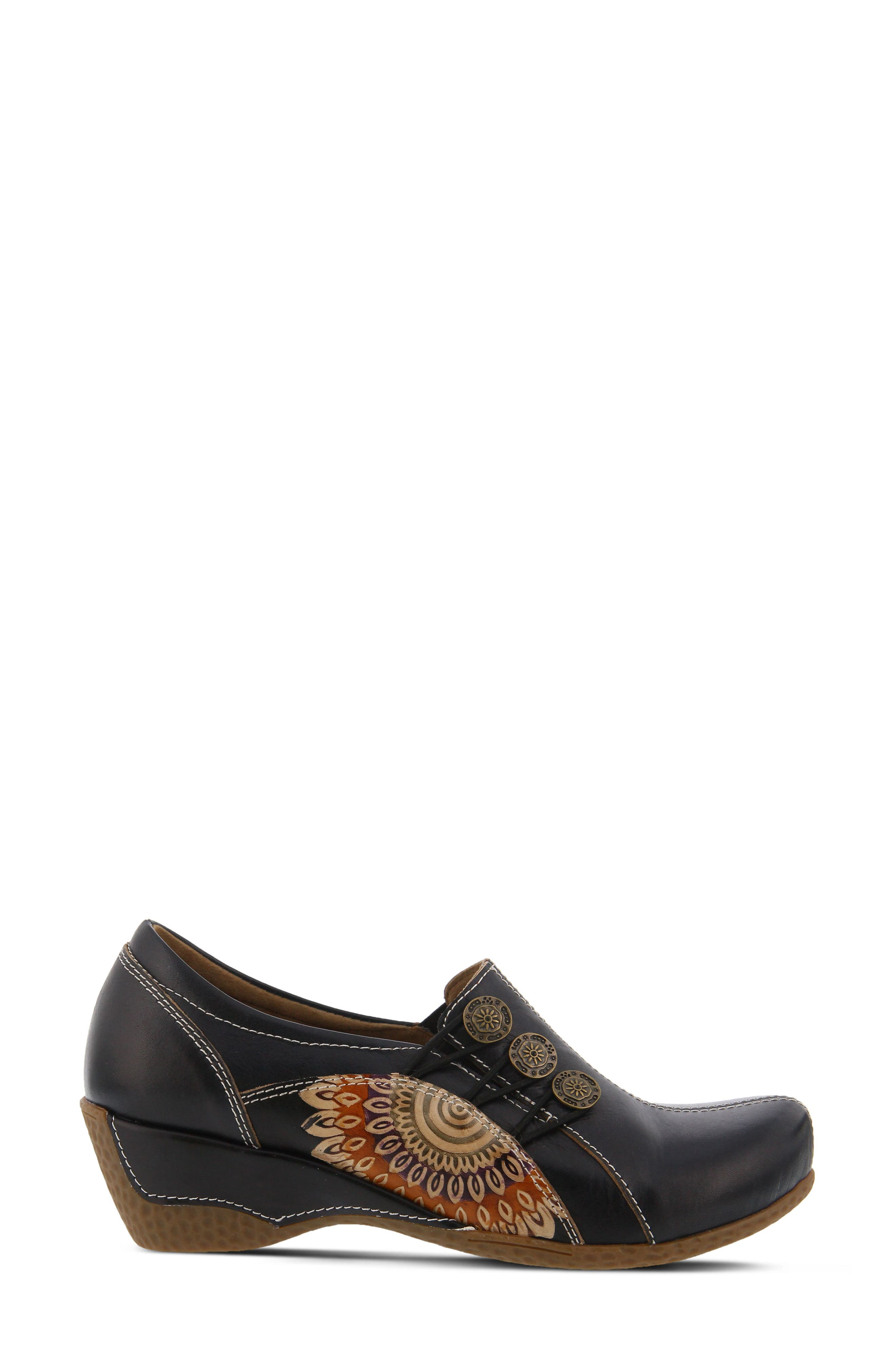 L'Artiste Agacia Slip-On,                             Alternate thumbnail 3, color,                             BLACK LEATHER