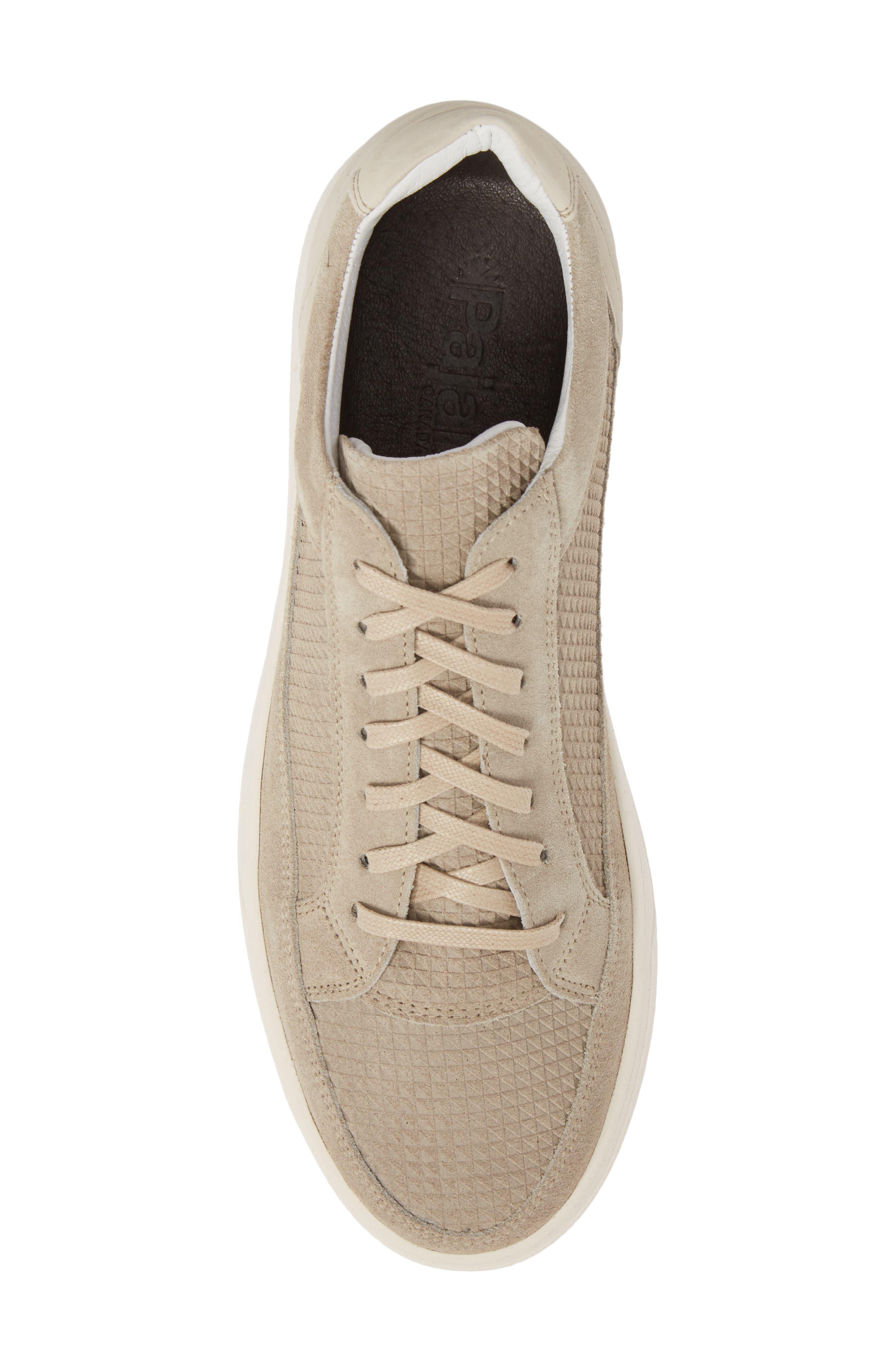 Reid Embossed Water Resistant Sneaker,                             Alternate thumbnail 5, color,                             SAND