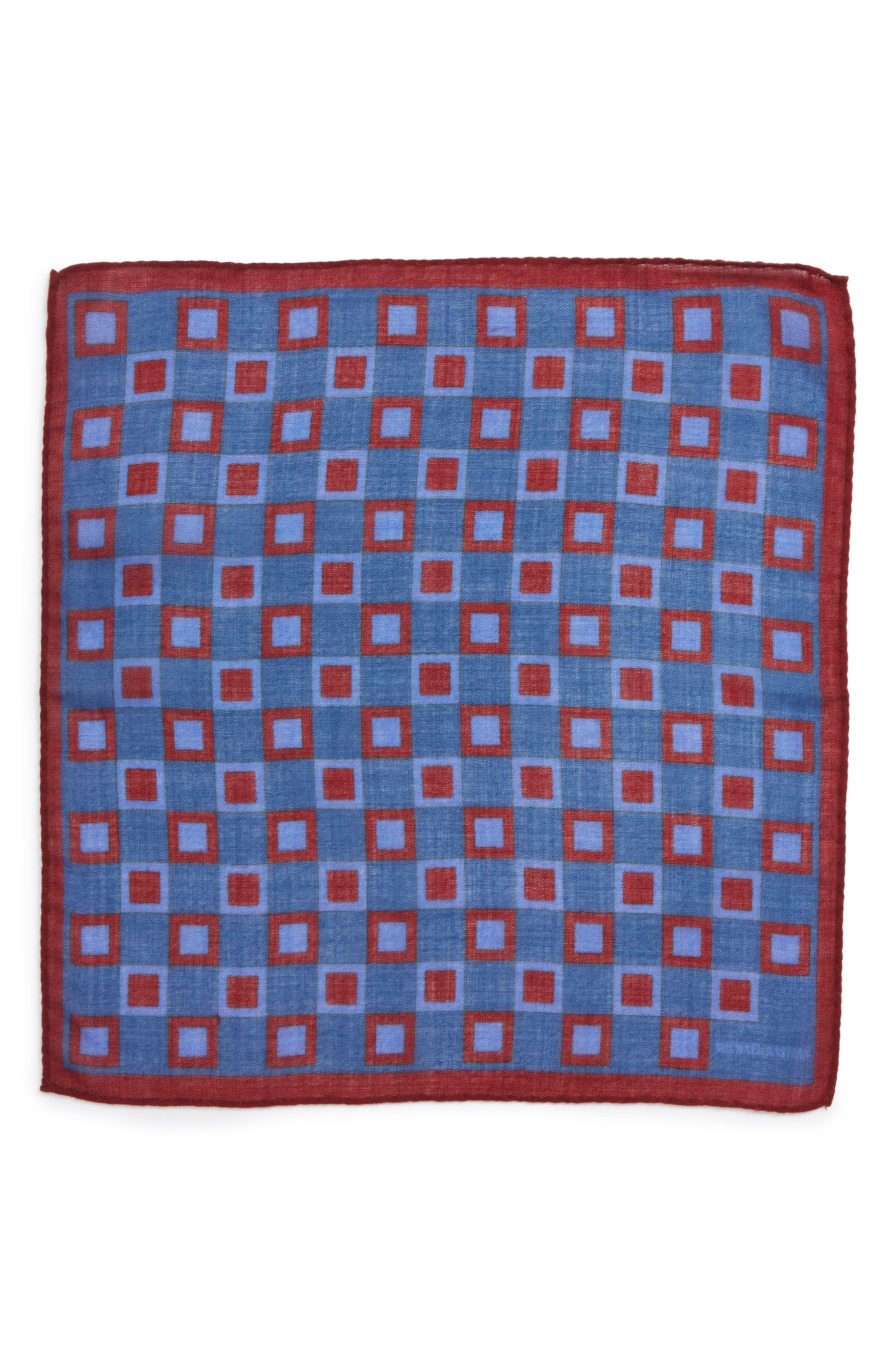 Geometric Pocket Square,                             Alternate thumbnail 4, color,