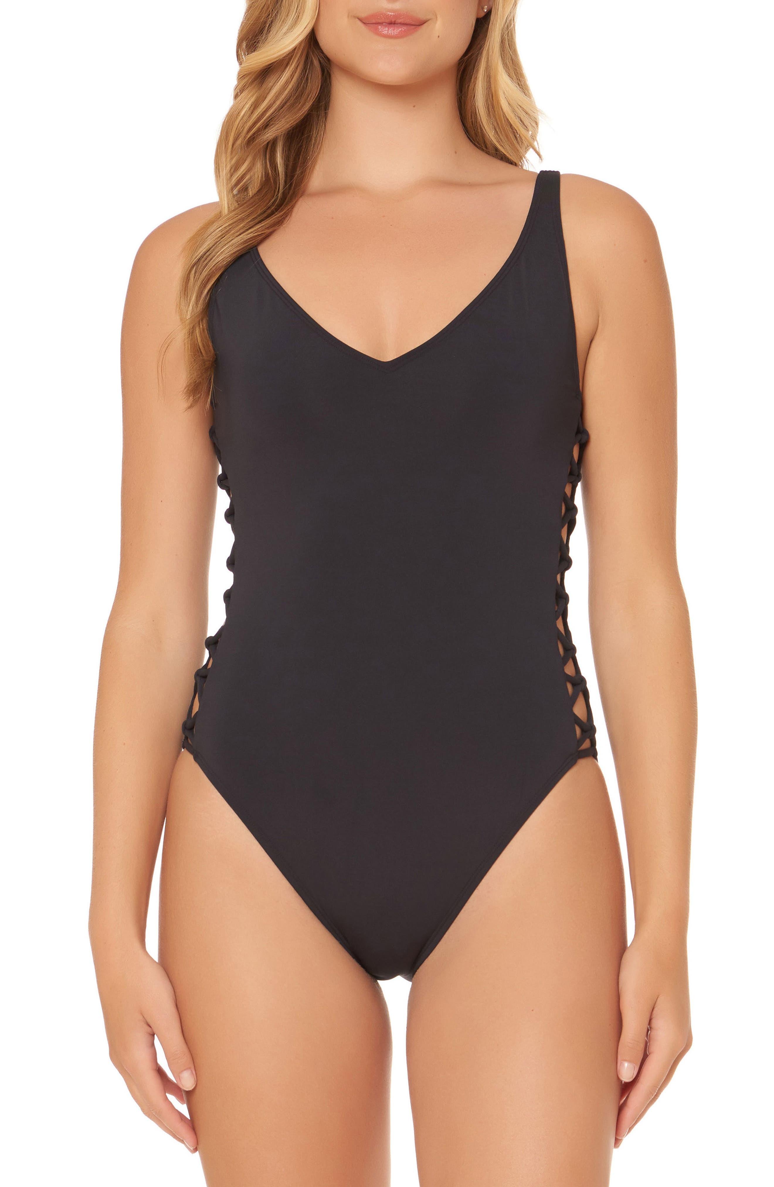 BLEU by Rod Beattie Lattice One-Piece Swimsuit,                             Main thumbnail 1, color,