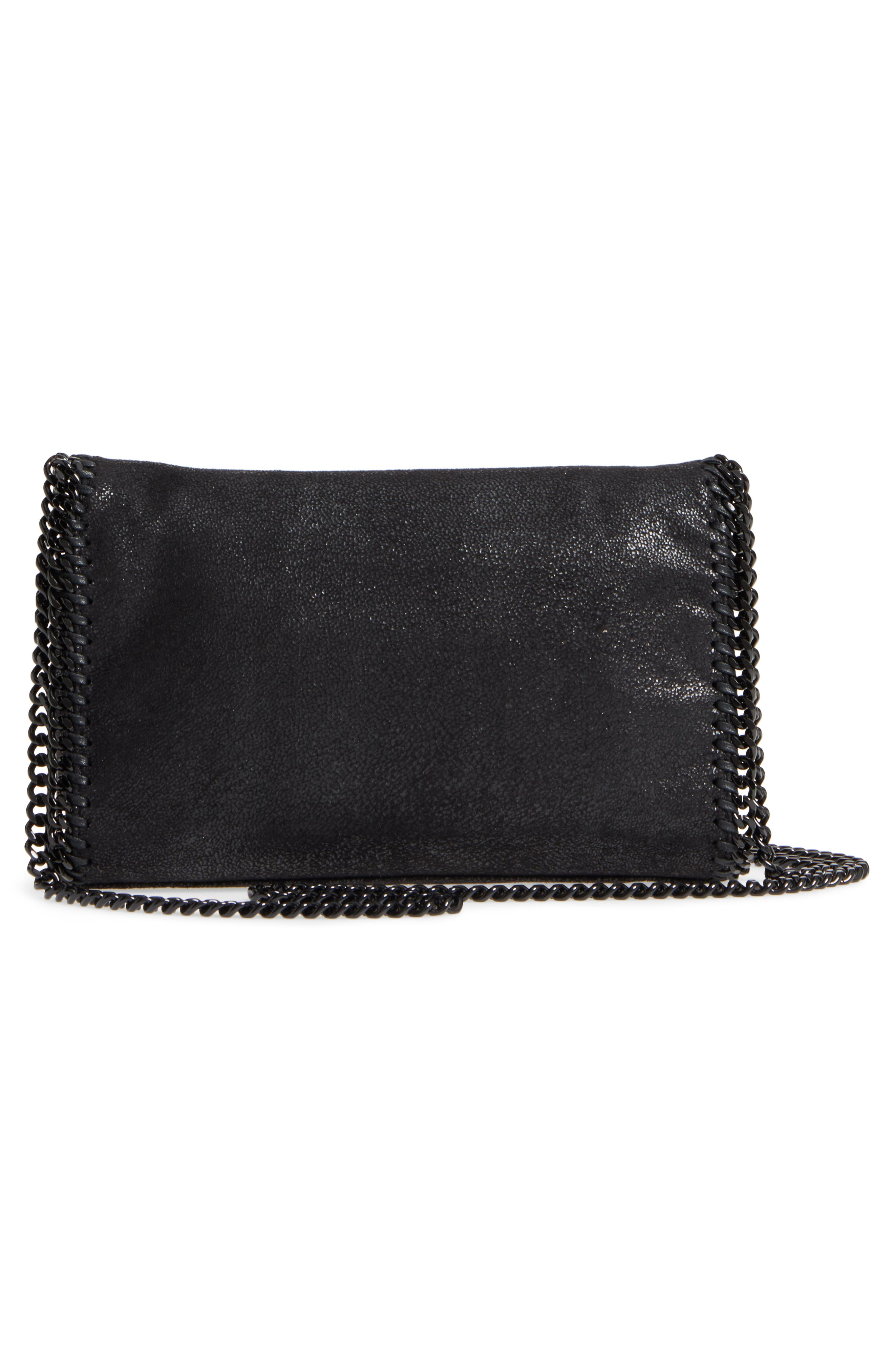 Mini Falabella - Shaggy Deer Faux Leather Crossbody Bag,                             Alternate thumbnail 3, color,                             001