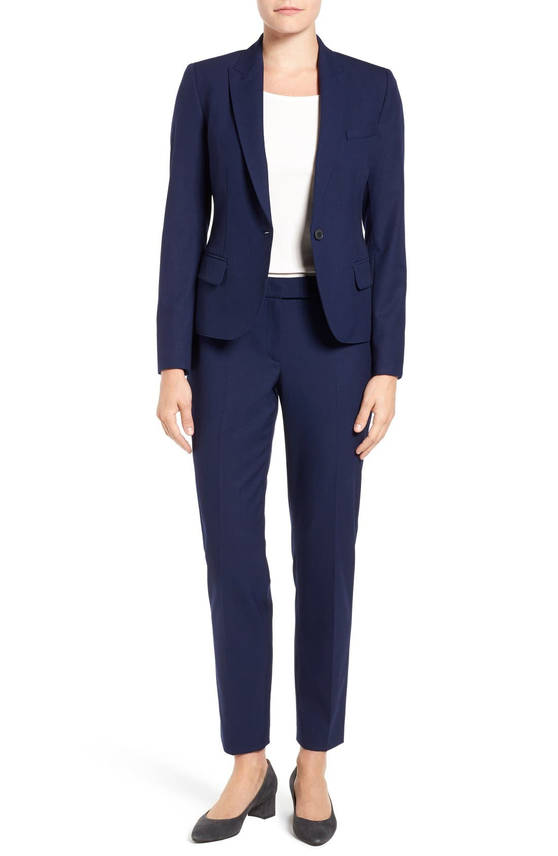 One-Button Suit Jacket,                             Alternate thumbnail 3, color,                             NAVY
