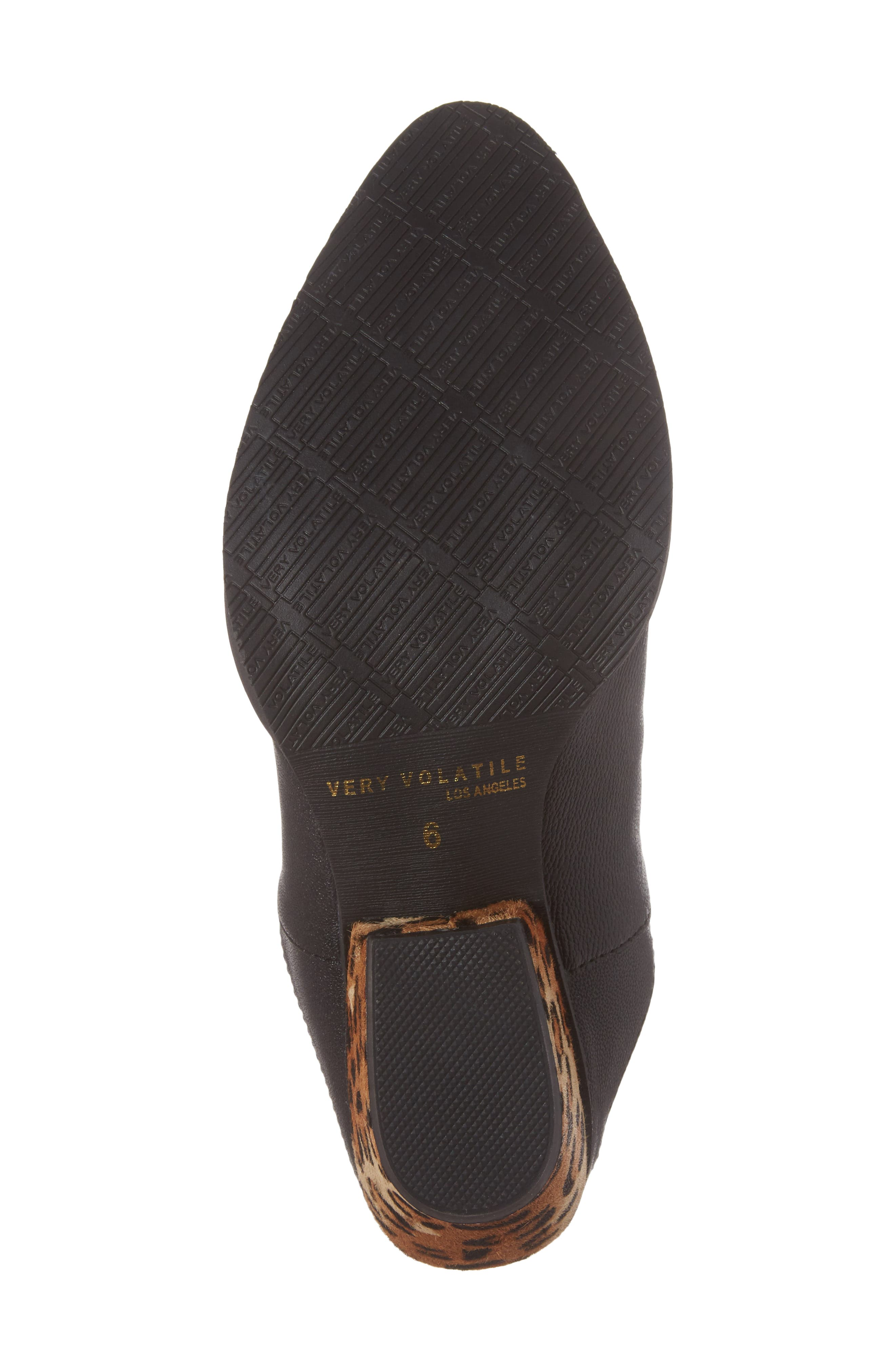 Chicas Genuine Calf Hair & Leather Mule,                             Alternate thumbnail 6, color,                             001