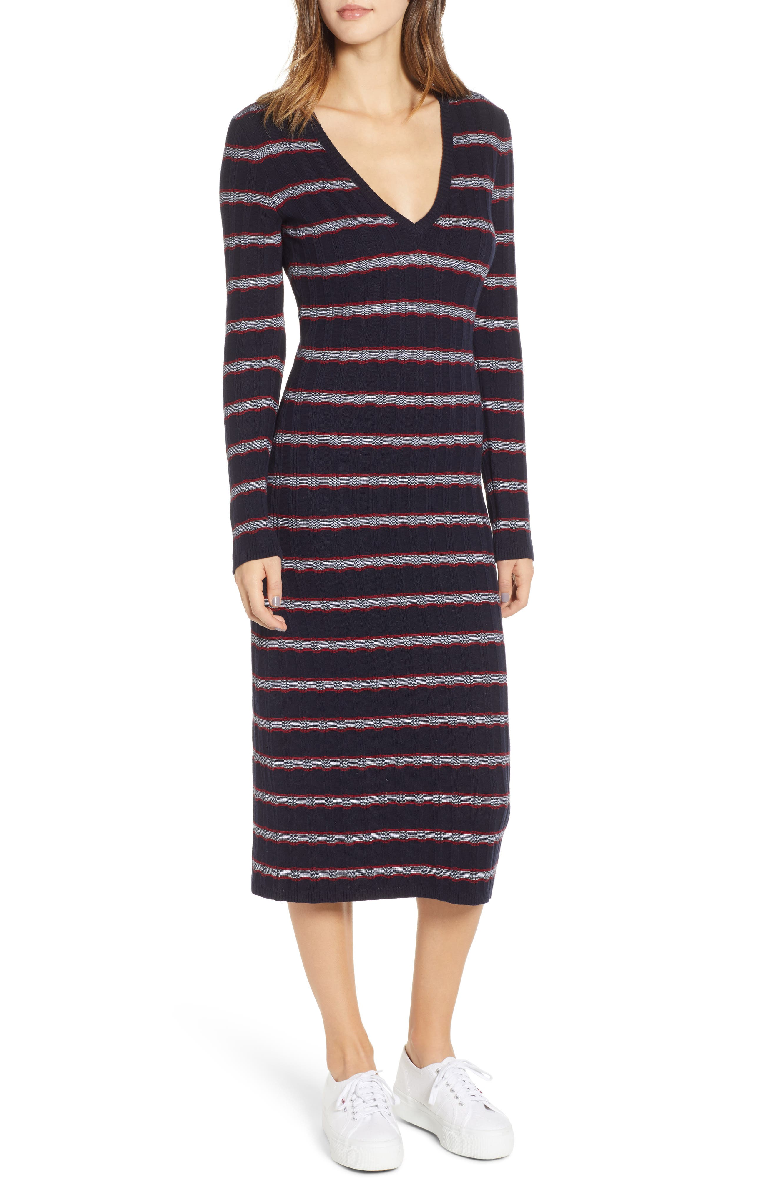 The Fifth Label Gravitation Stripe Sweater Dress, Blue