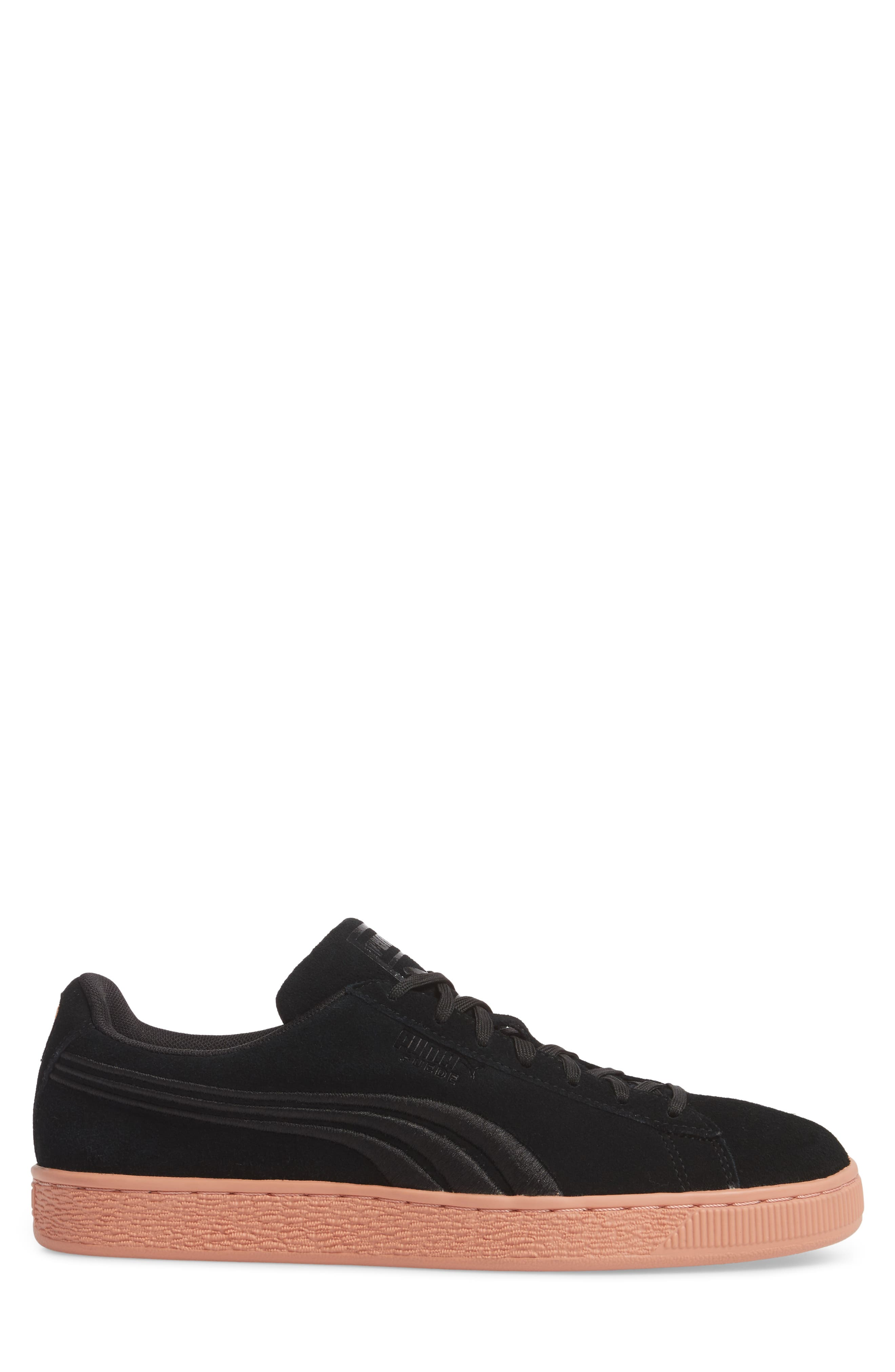 Suede Classic Bade Sneaker,                             Alternate thumbnail 3, color,                             001