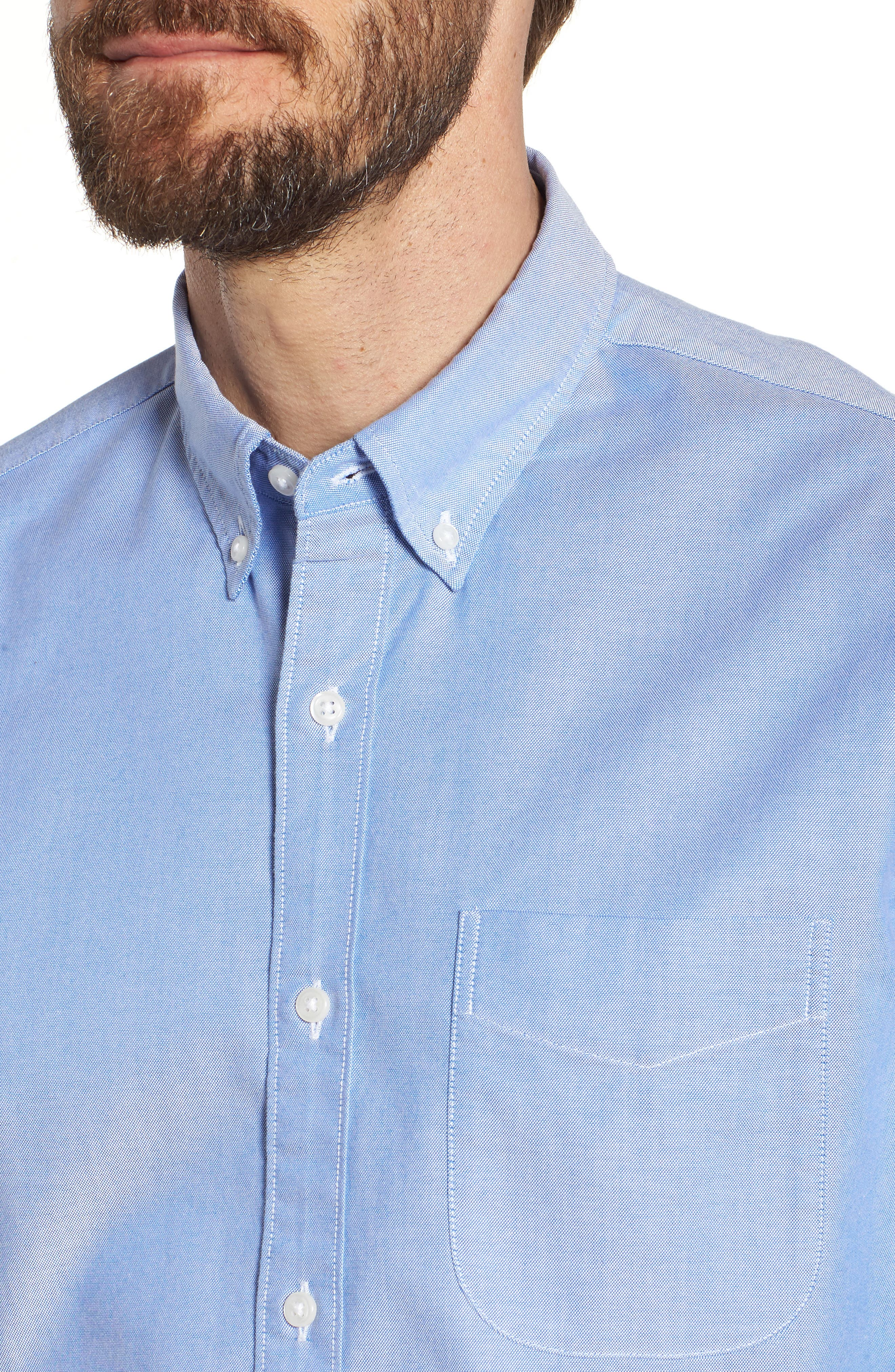 Slim Fit Stretch Pima Cotton Oxford Shirt,                             Alternate thumbnail 18, color,