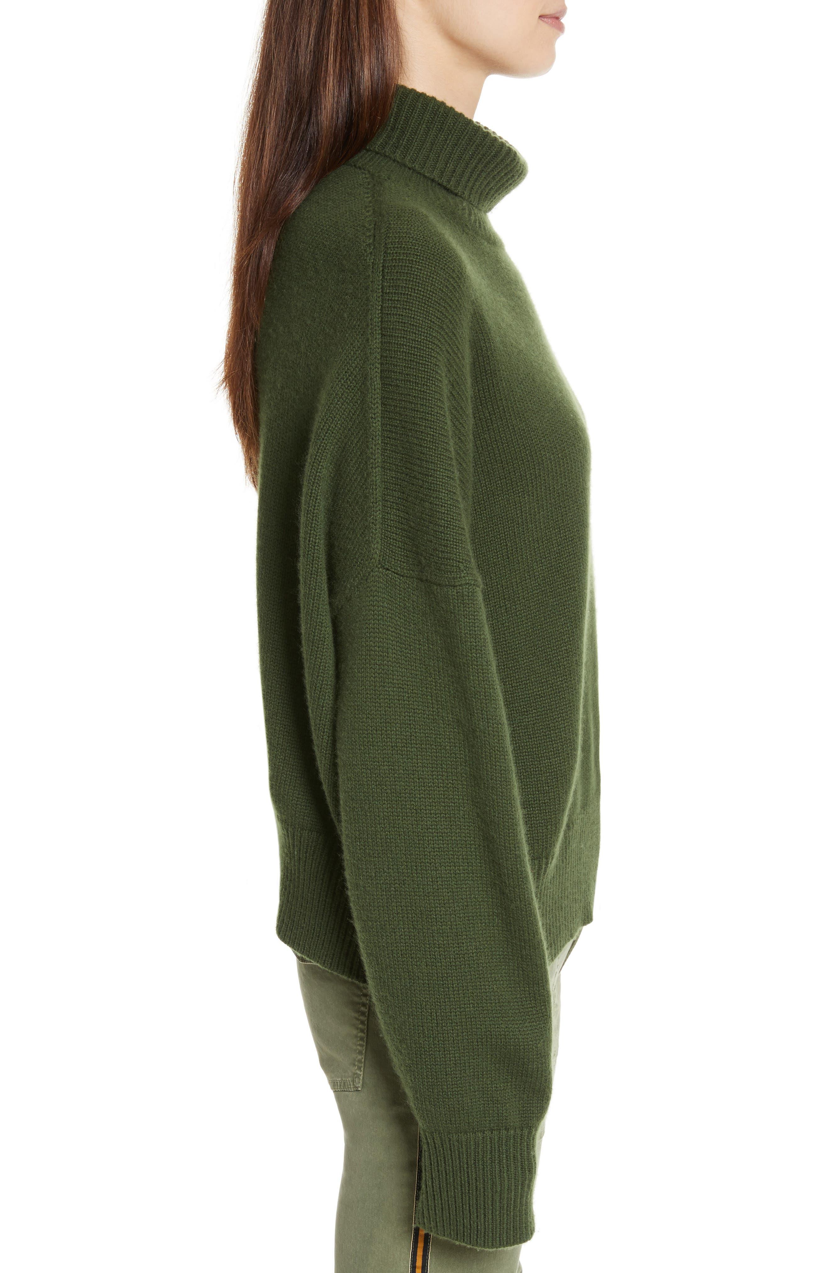 Serinda Wool & Cashmere Turtleneck Sweater,                             Alternate thumbnail 3, color,                             303