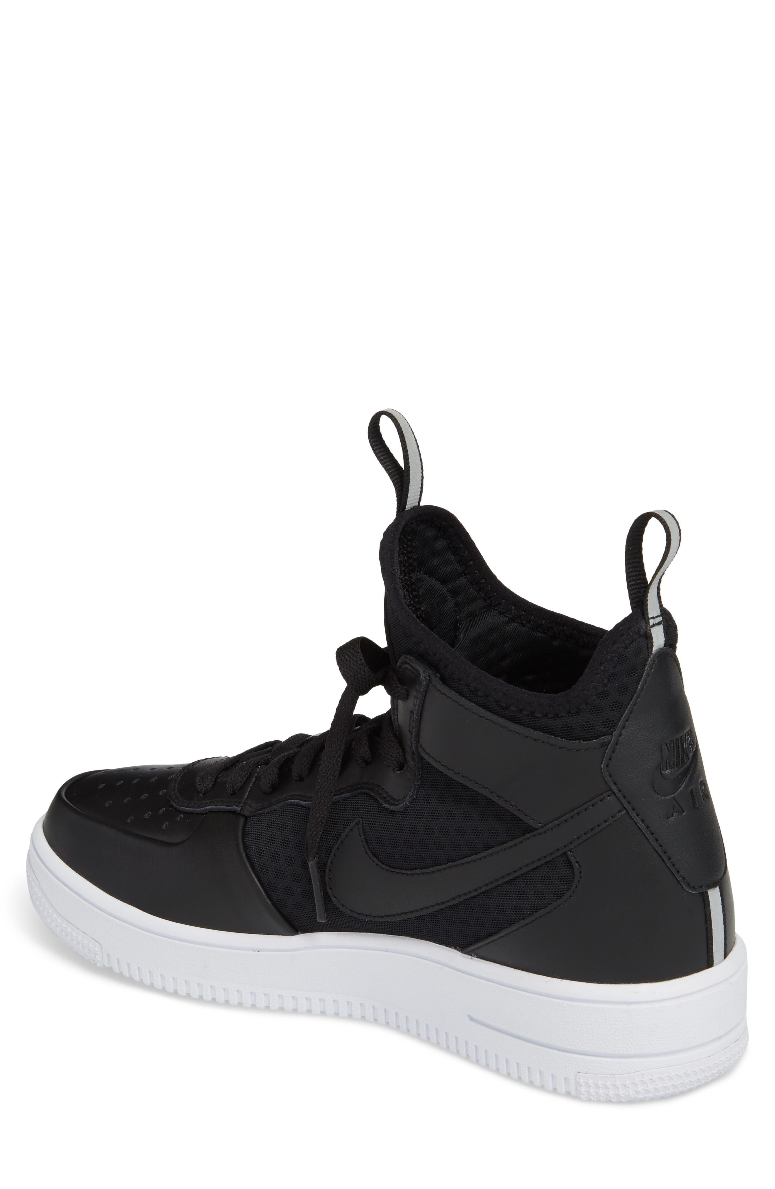 Air Force 1 Ultraforce Mid Sneaker,                             Alternate thumbnail 2, color,                             001
