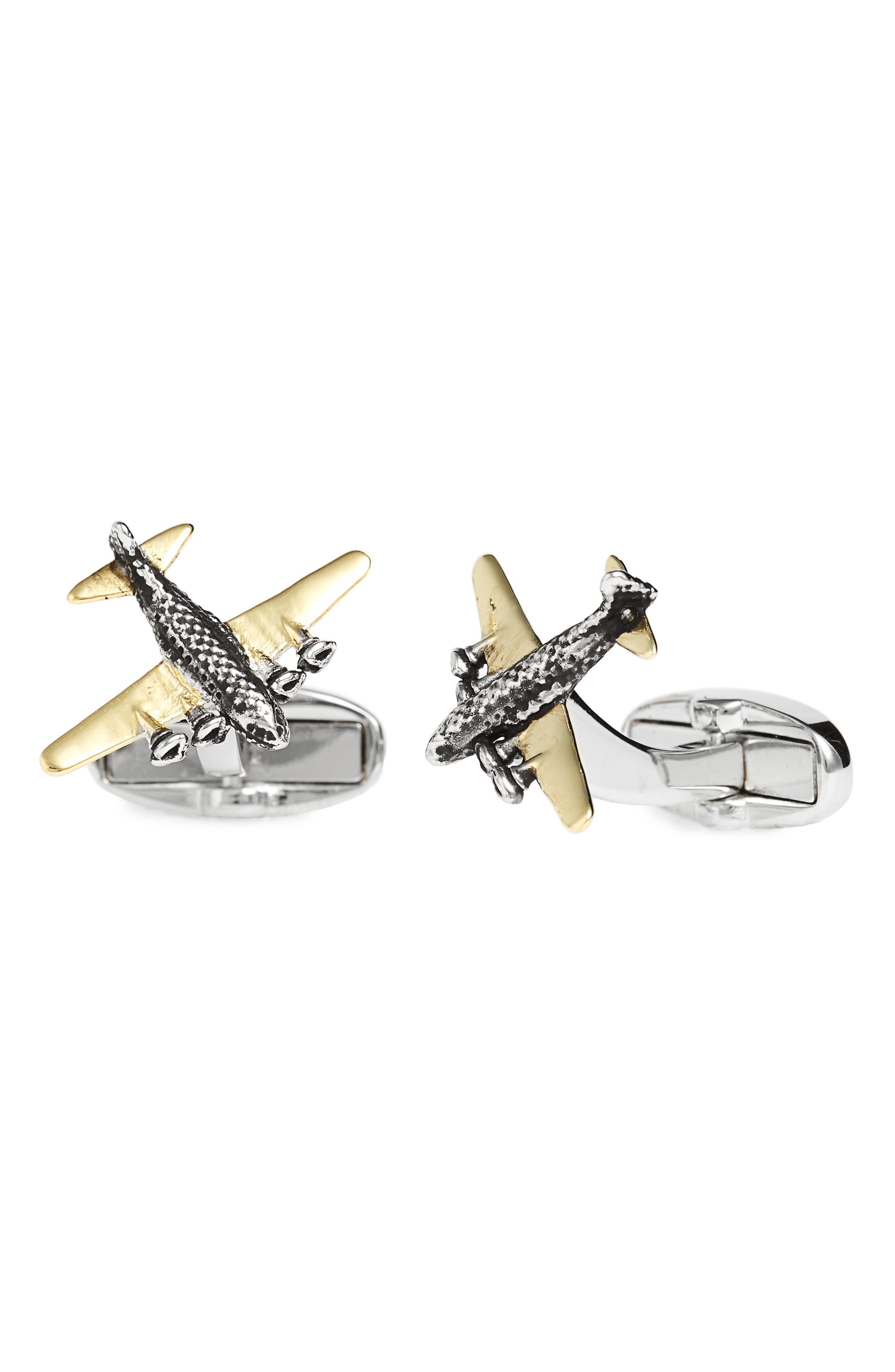 Airplane Cuff Links,                         Main,                         color,