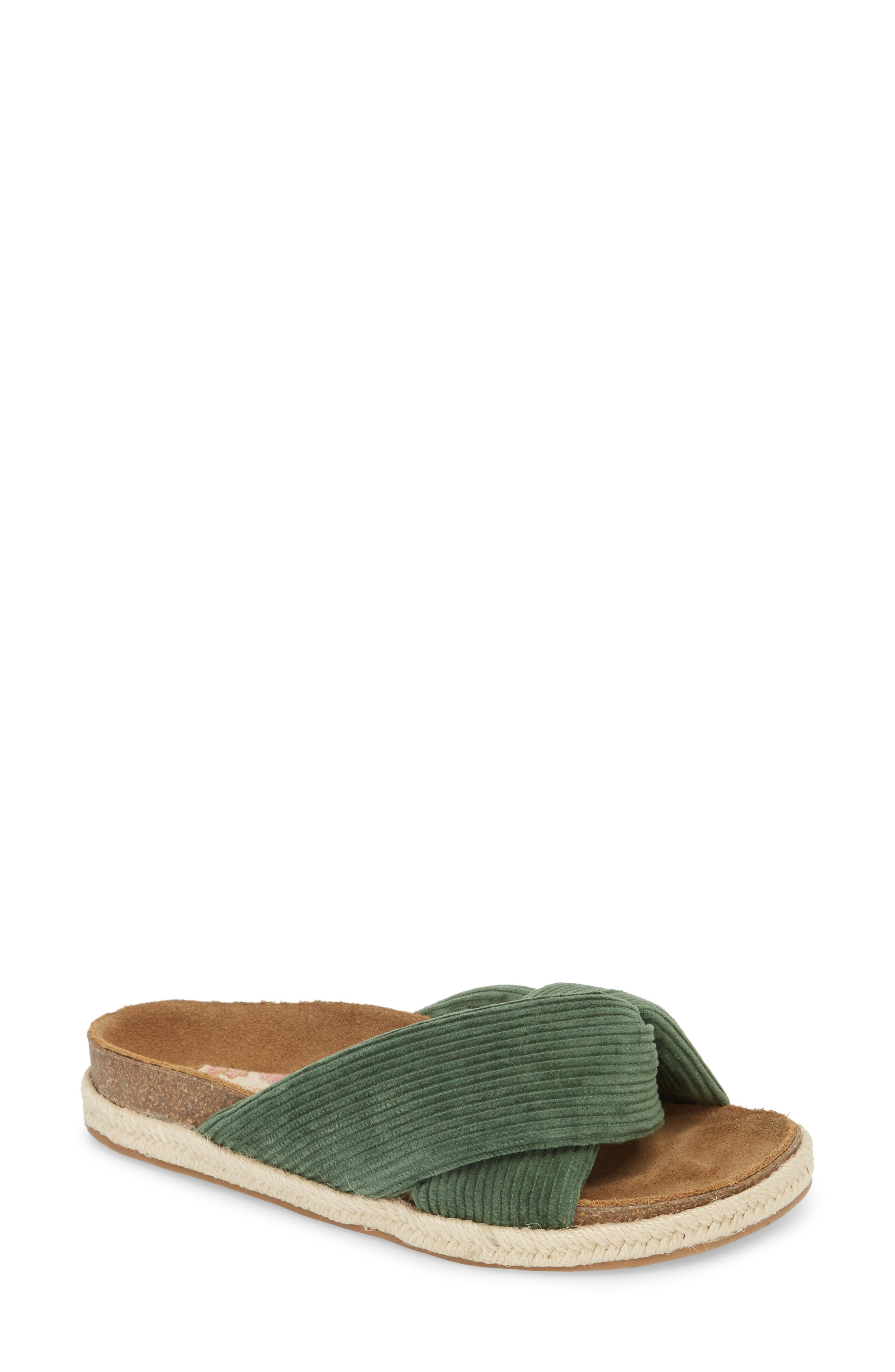 Move Over Flat Sandal,                             Main thumbnail 1, color,                             OLIVE