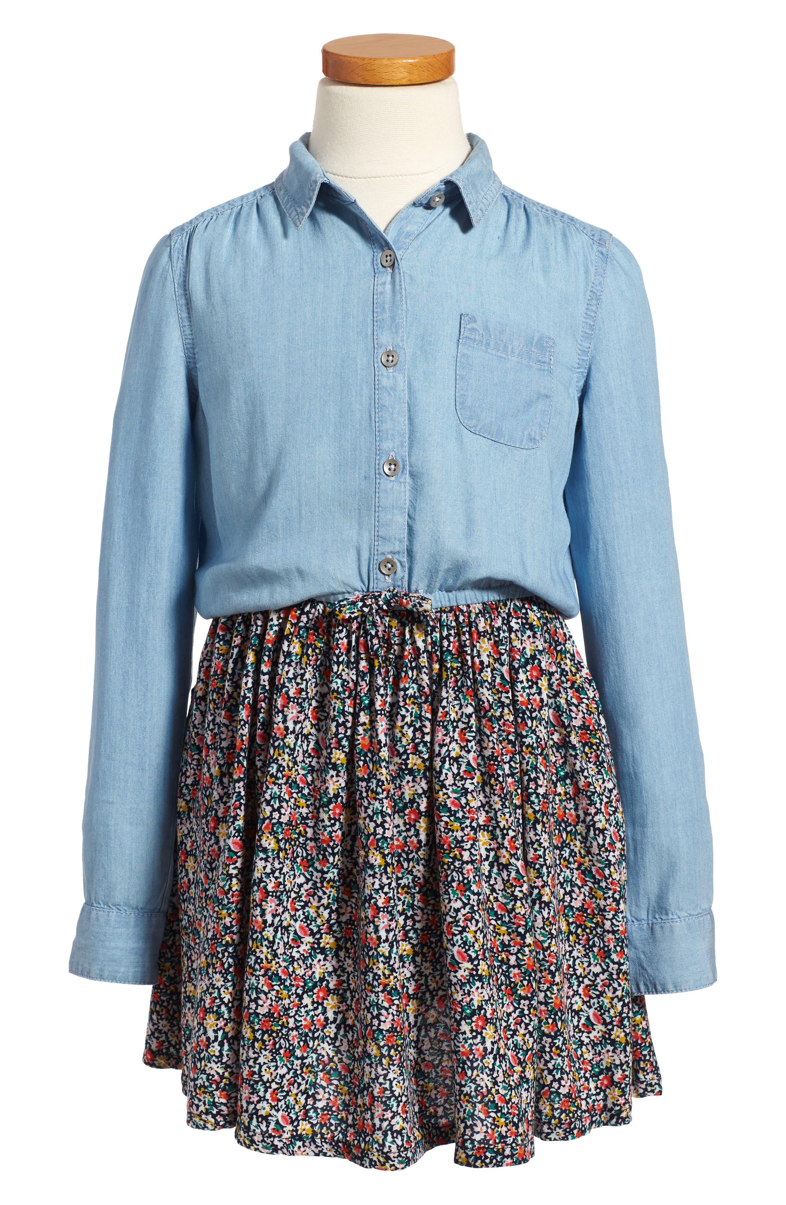 Mixed Media Dress,                         Main,                         color, 450