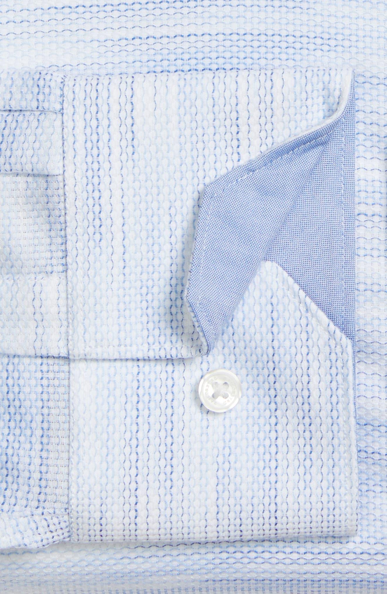 Trim Fit Solid Dress Shirt,                             Alternate thumbnail 4, color,                             400