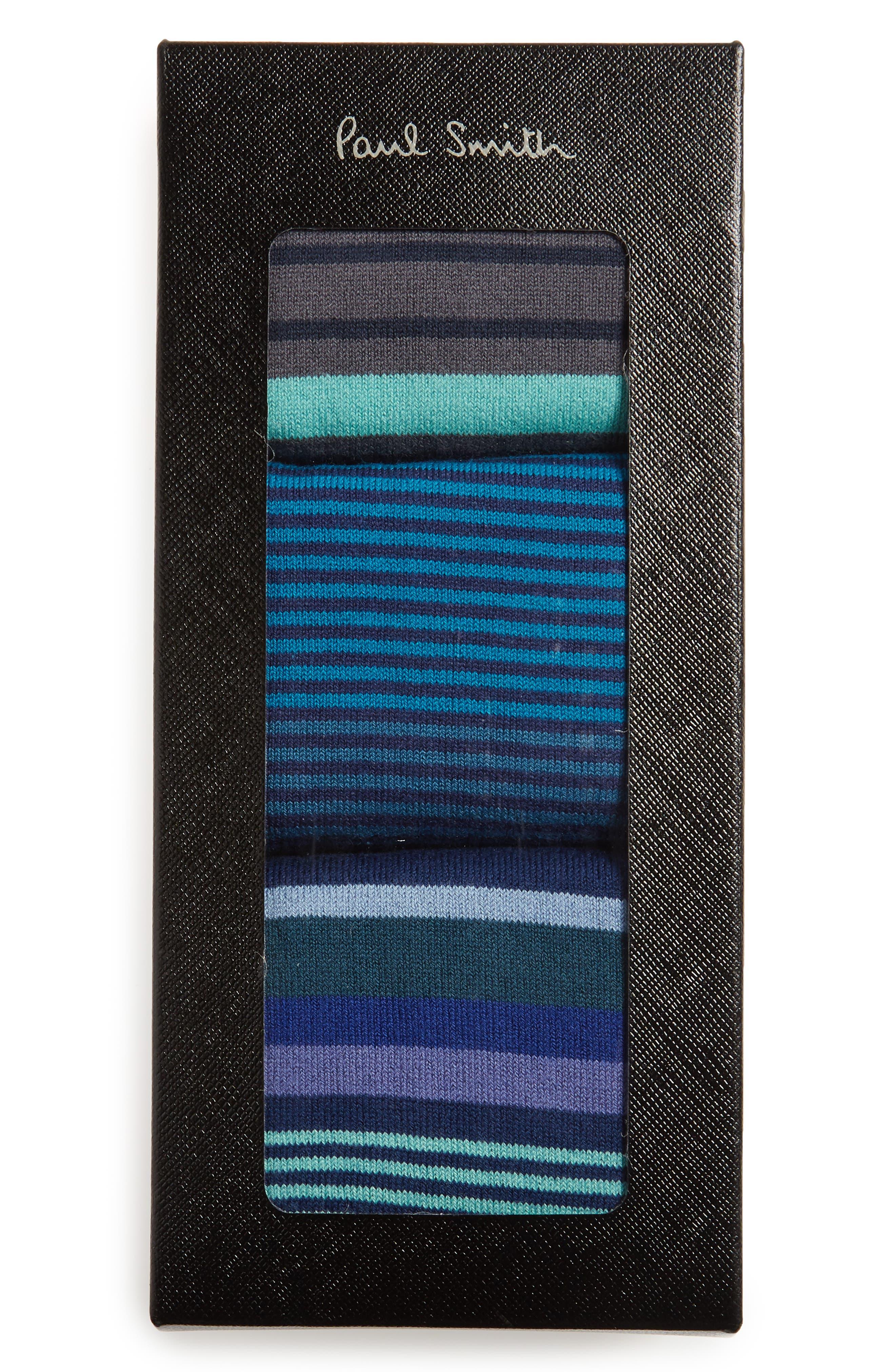 3-Pack Stripe Socks,                             Alternate thumbnail 2, color,                             434