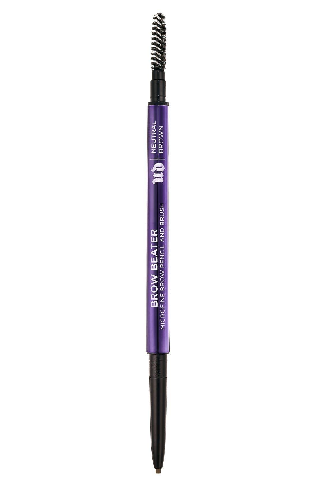 Brow Beater Microfine Brow Pencil & Brush,                             Main thumbnail 1, color,                             NEUTRAL BROWN