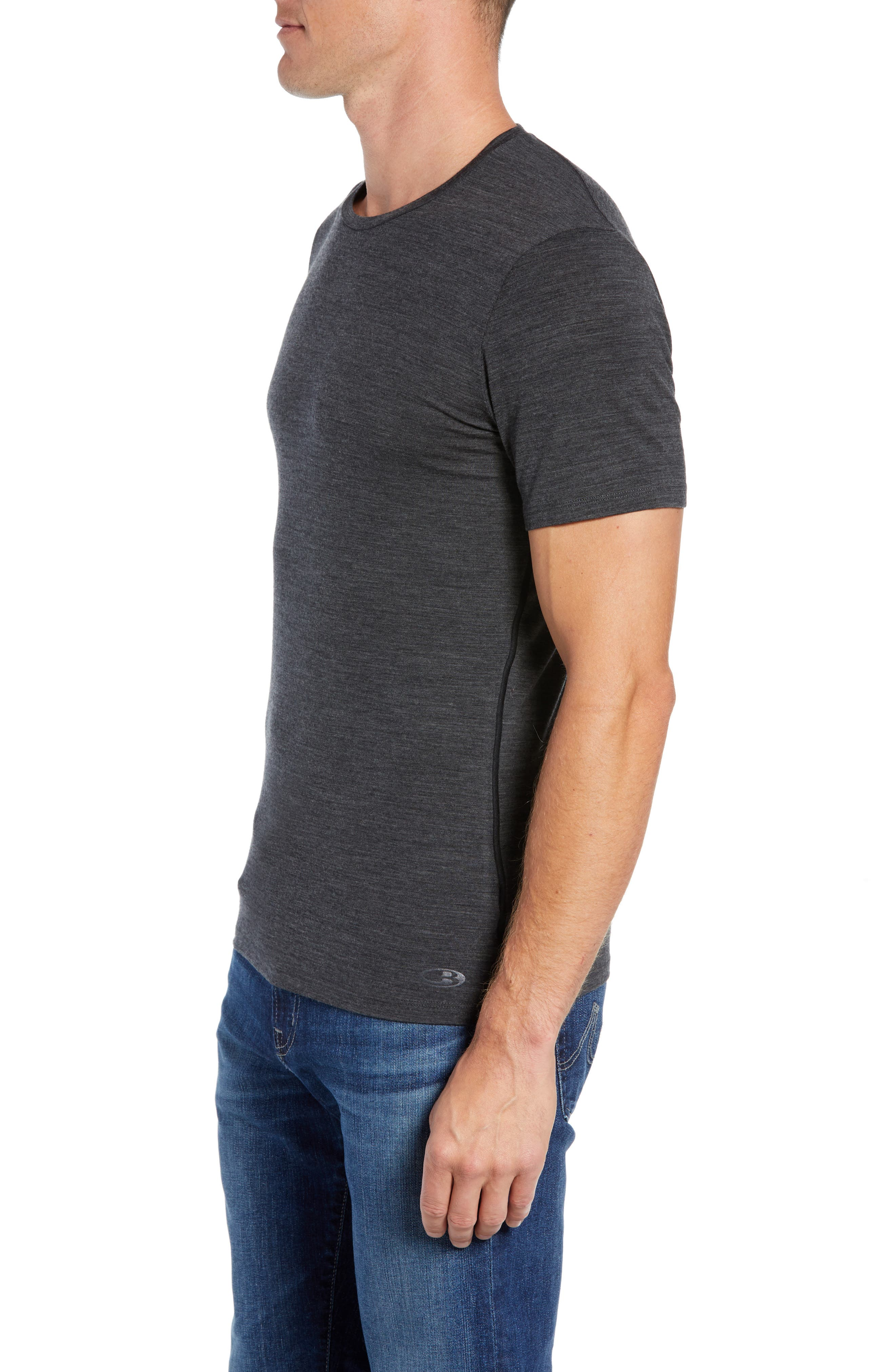 Anatomica Short Sleeve Crewneck T-Shirt,                             Alternate thumbnail 3, color,                             JET HEATHER/ BLACK