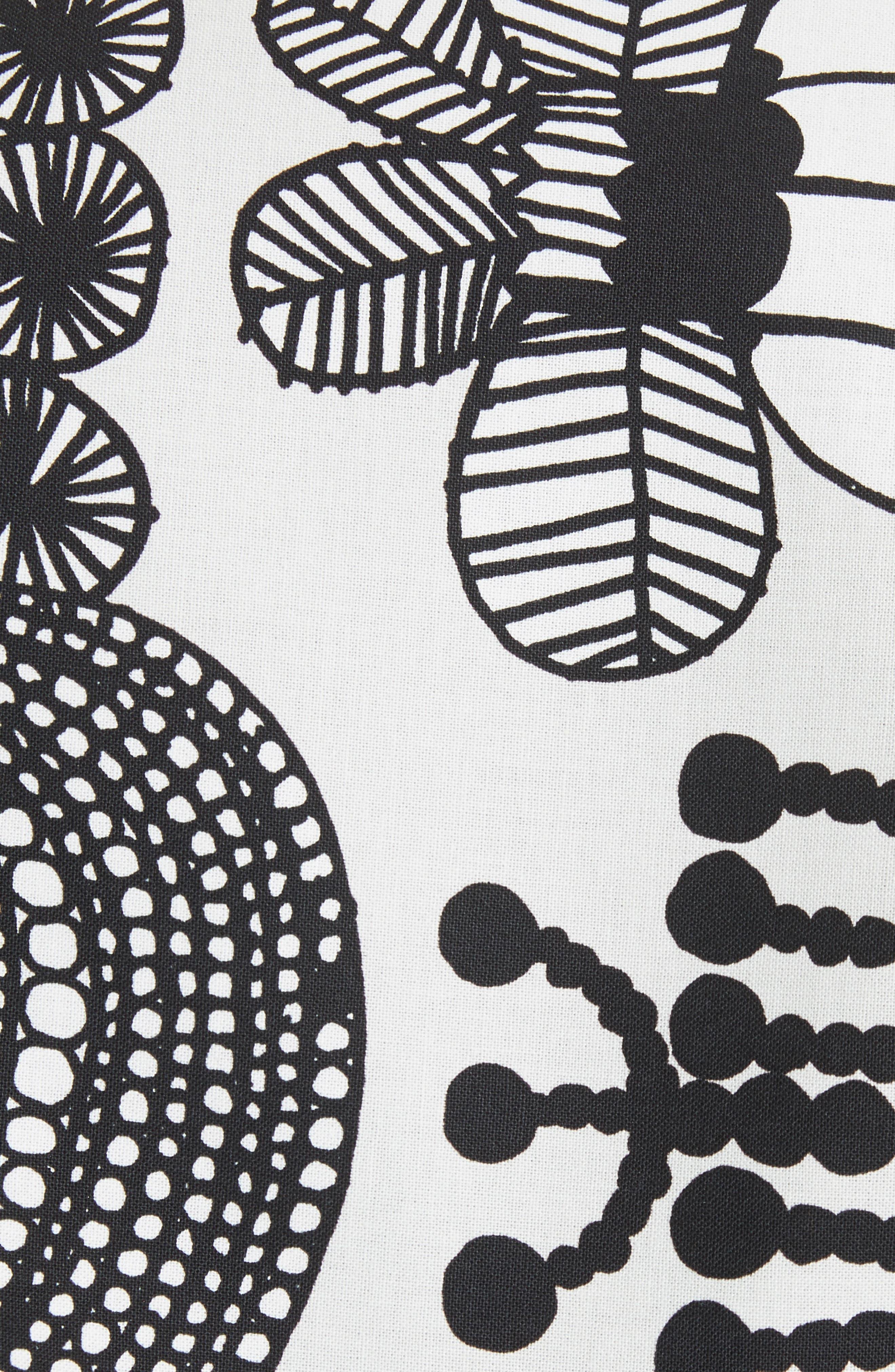 Vegetable Print Shift Dress,                             Alternate thumbnail 5, color,                             020