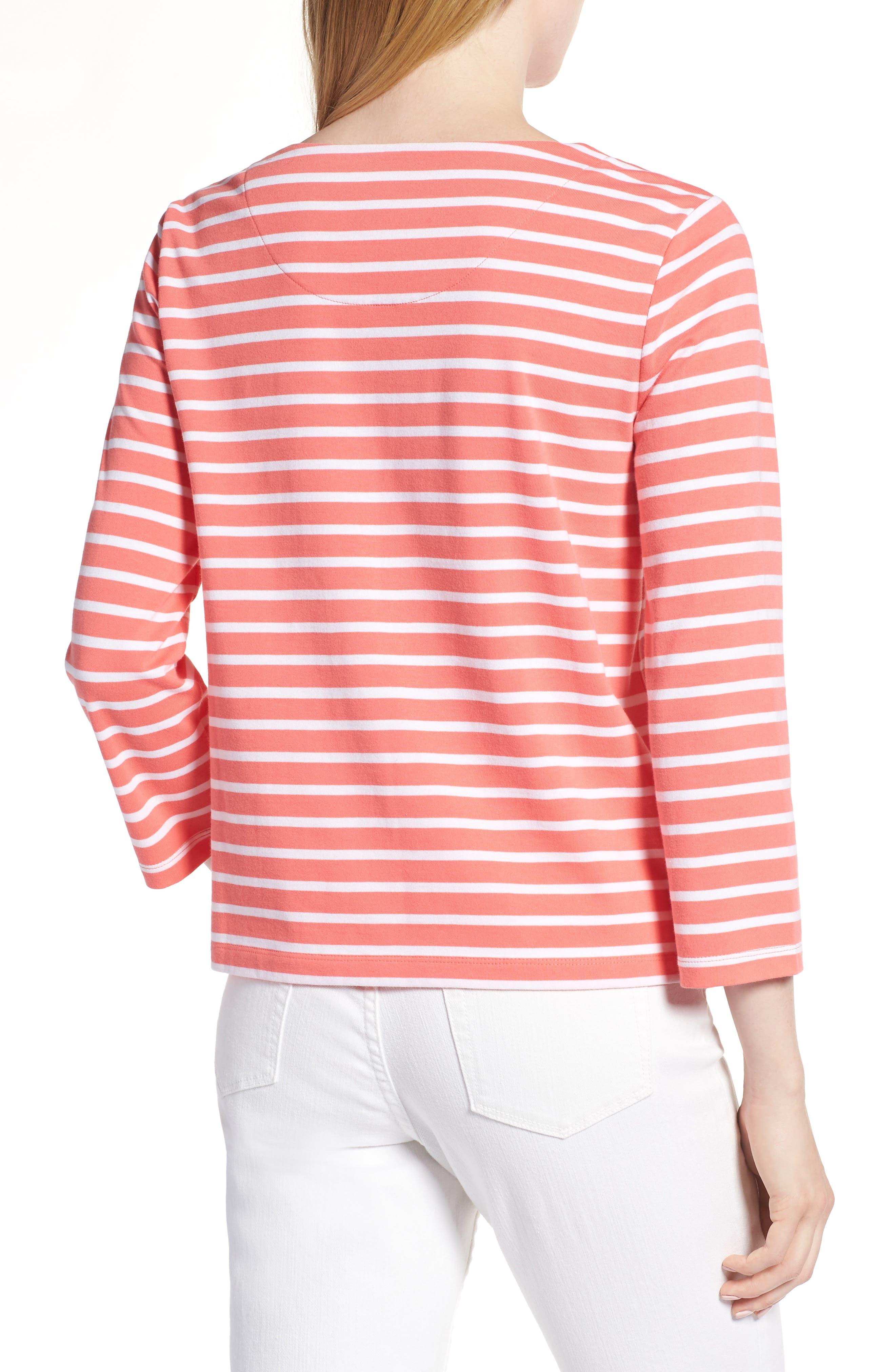 Shoulder Button Cotton Top,                             Alternate thumbnail 2, color,                             958