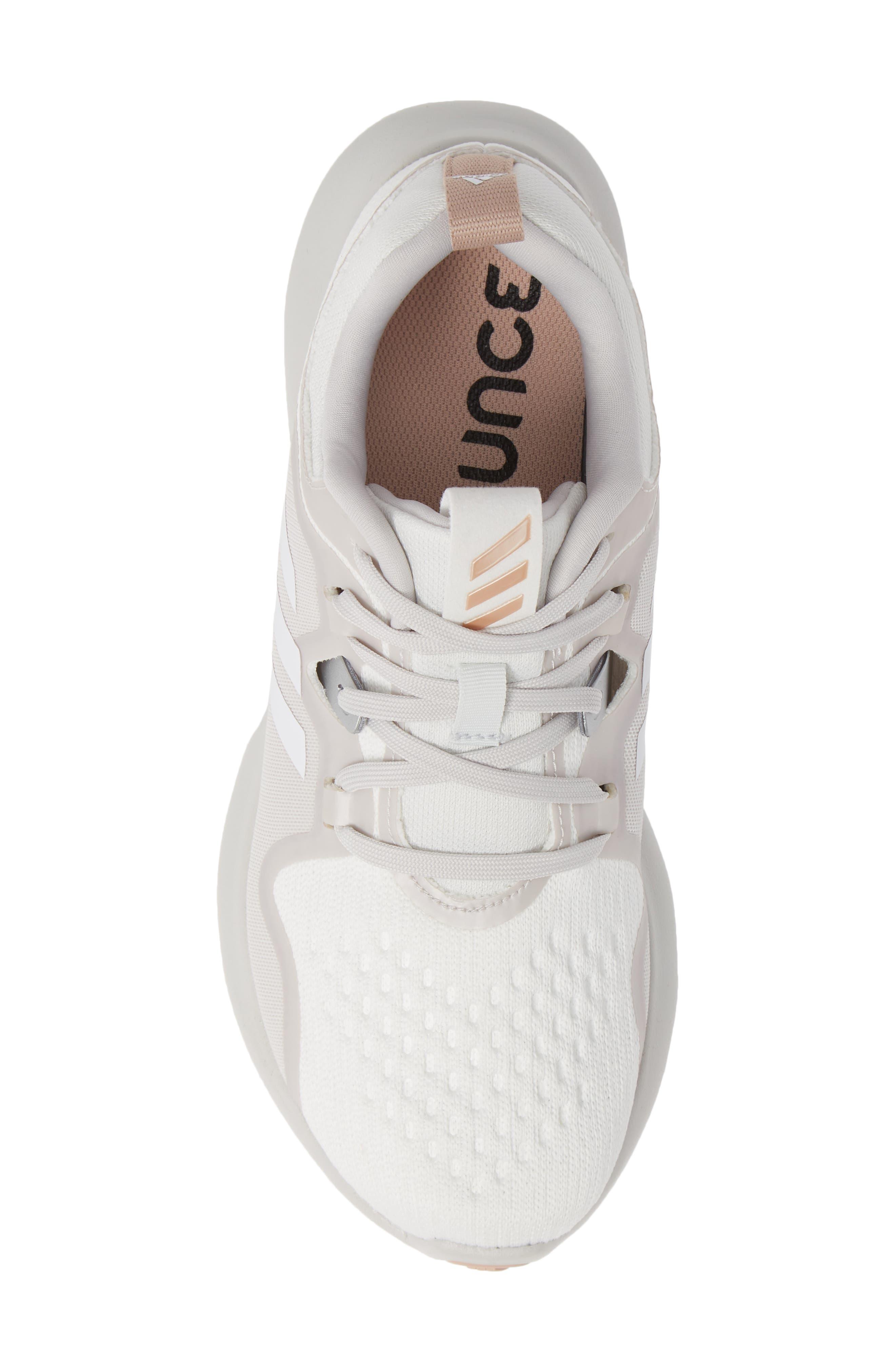 EdgeBounce Running Shoe,                             Alternate thumbnail 5, color,                             WHITE/ GREY ONE/ ASH PEARL