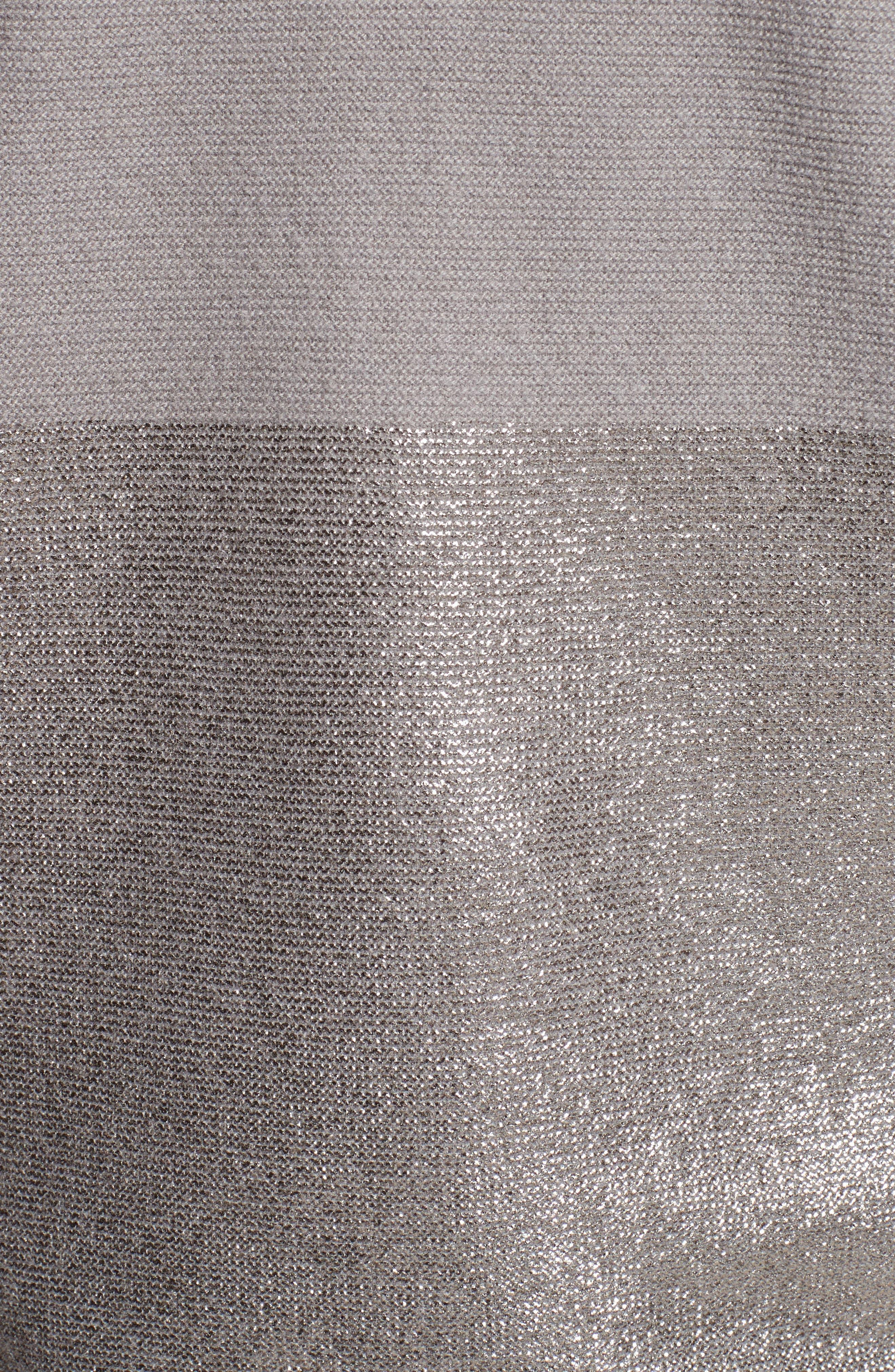 Micro Popcorn Stitch Zip Cardigan,                             Alternate thumbnail 5, color,                             040