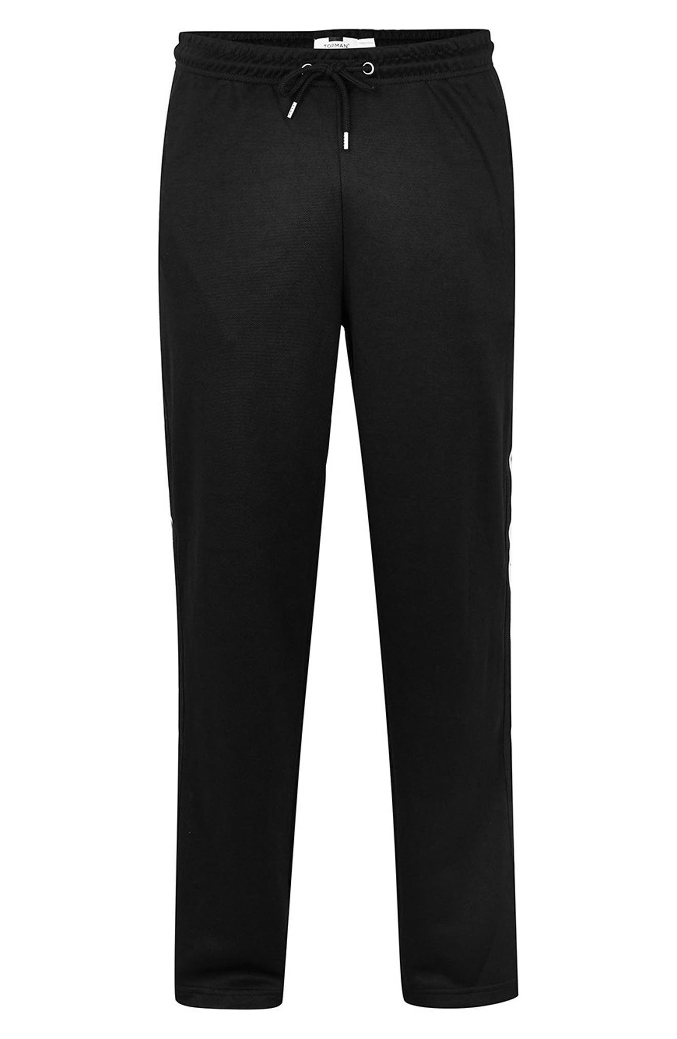 Classic Tricot Taped Jogger Pants,                             Alternate thumbnail 4, color,                             BLACK MULTI
