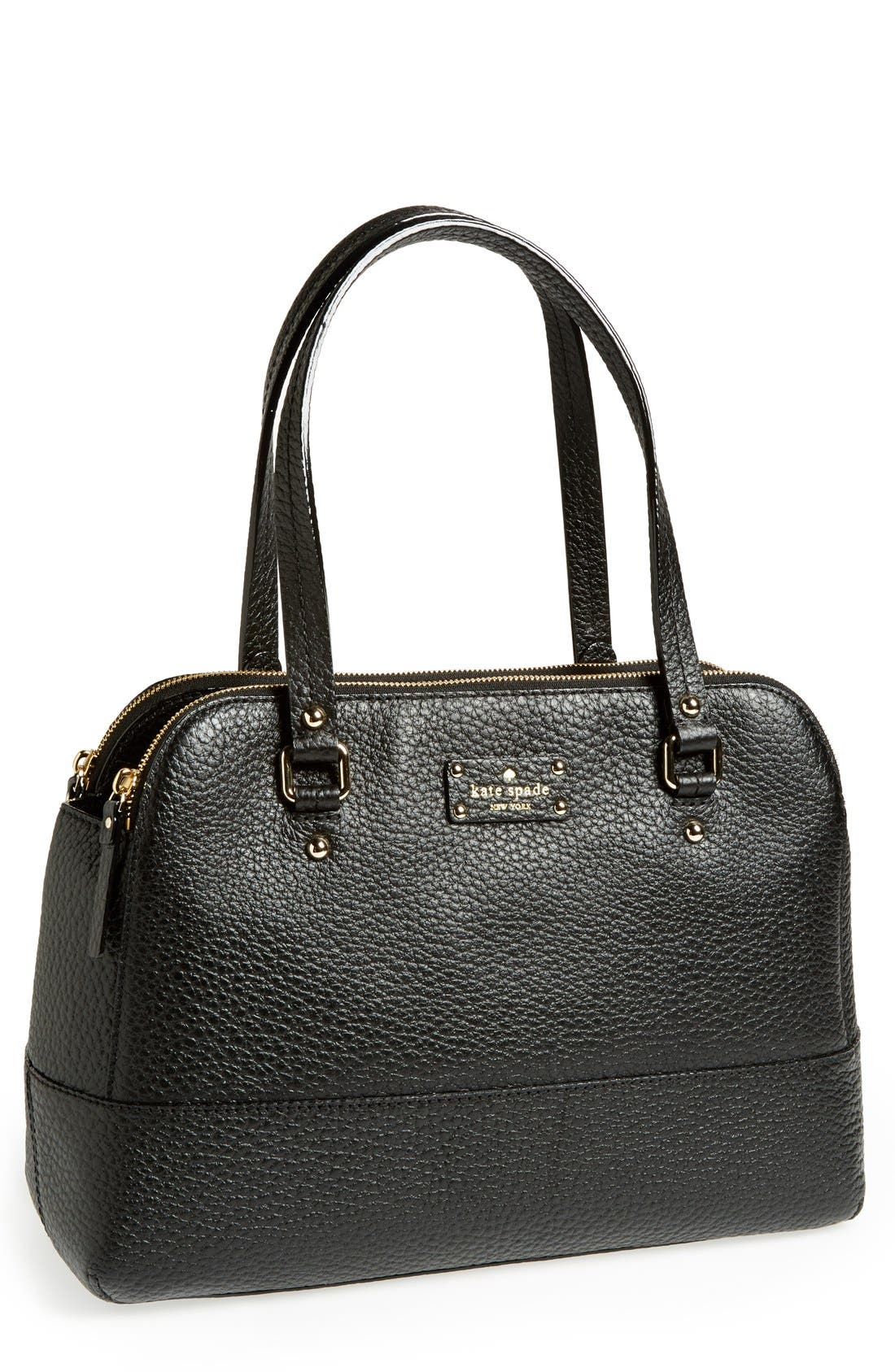 'grove court - lainey' leather tote,                             Main thumbnail 1, color,                             001