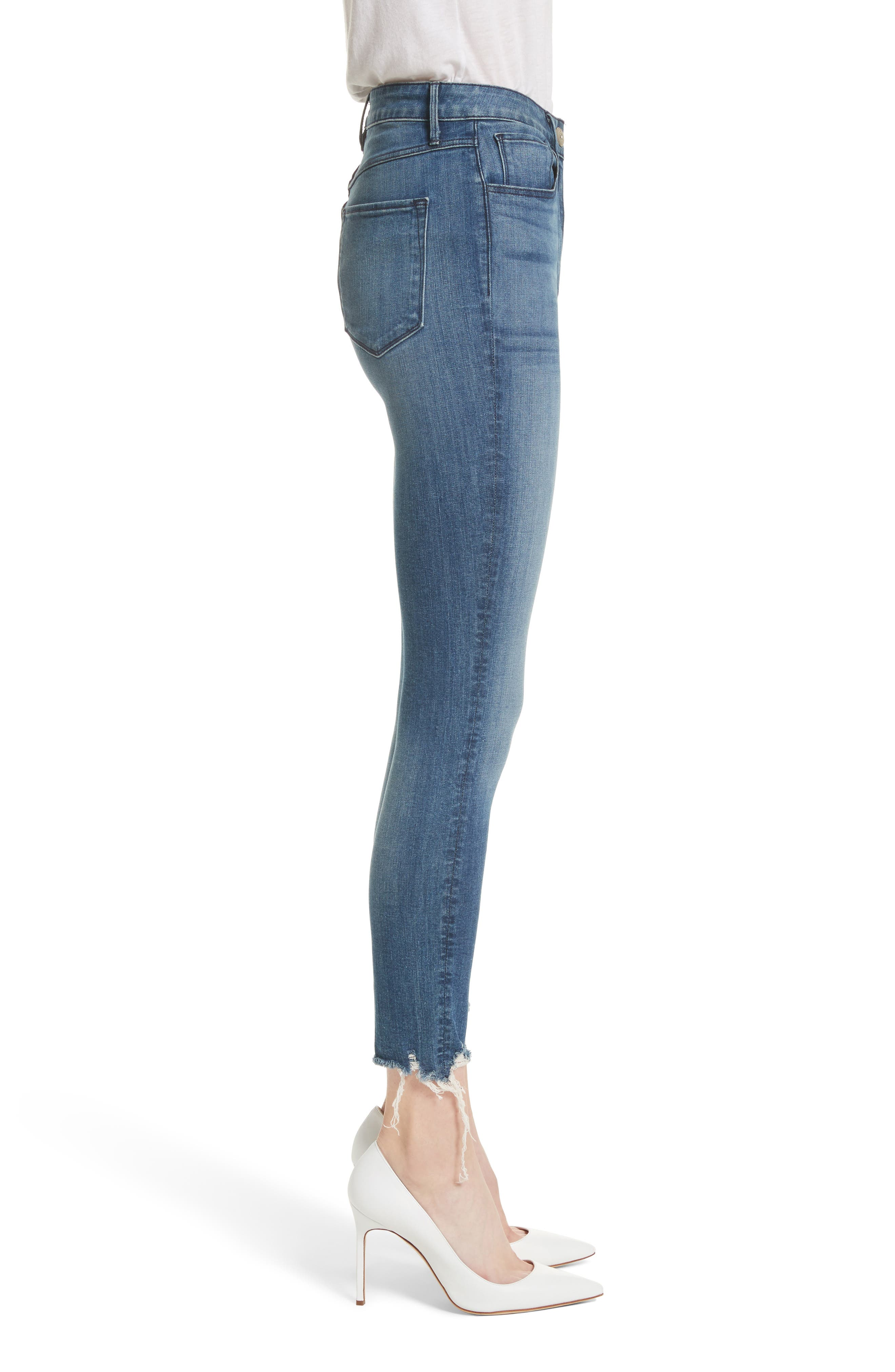W3 Crop Skinny Jeans,                             Alternate thumbnail 3, color,                             428