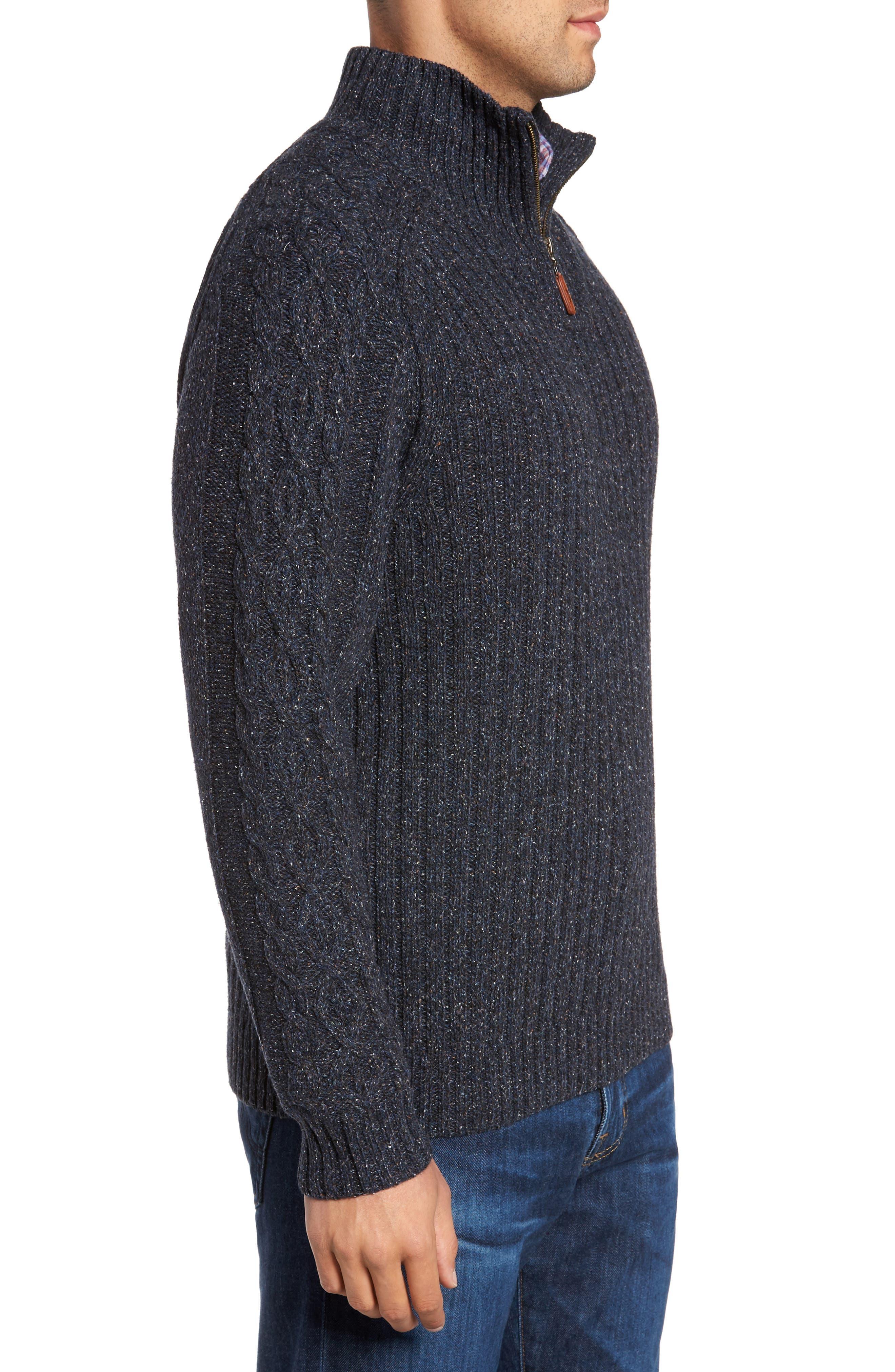 Hamada Quarter Zip Sweater,                             Alternate thumbnail 3, color,                             401