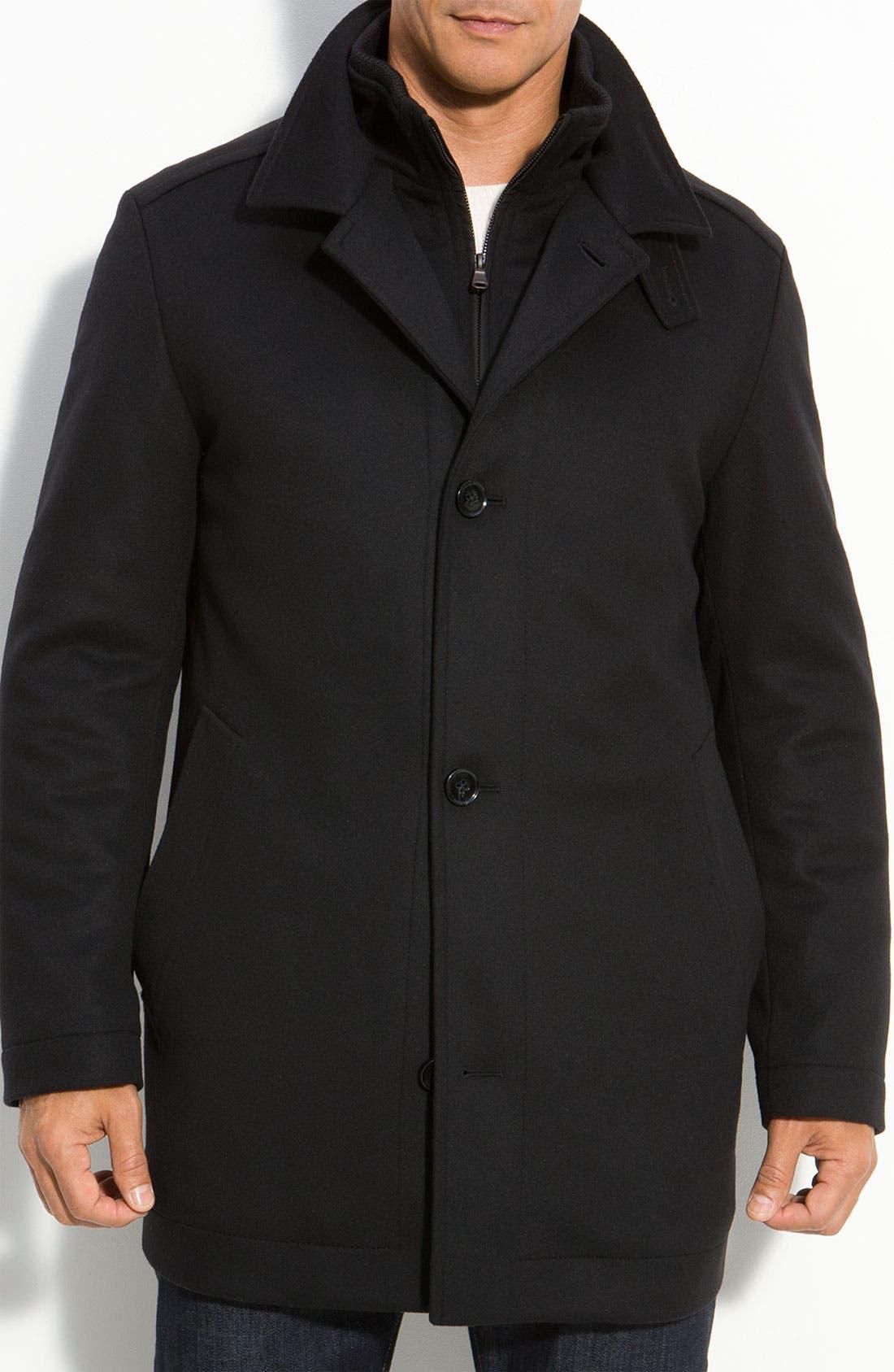 HUGO BOSS 'Coxtan' Wool & Cashmere Coat, Main, color, 001