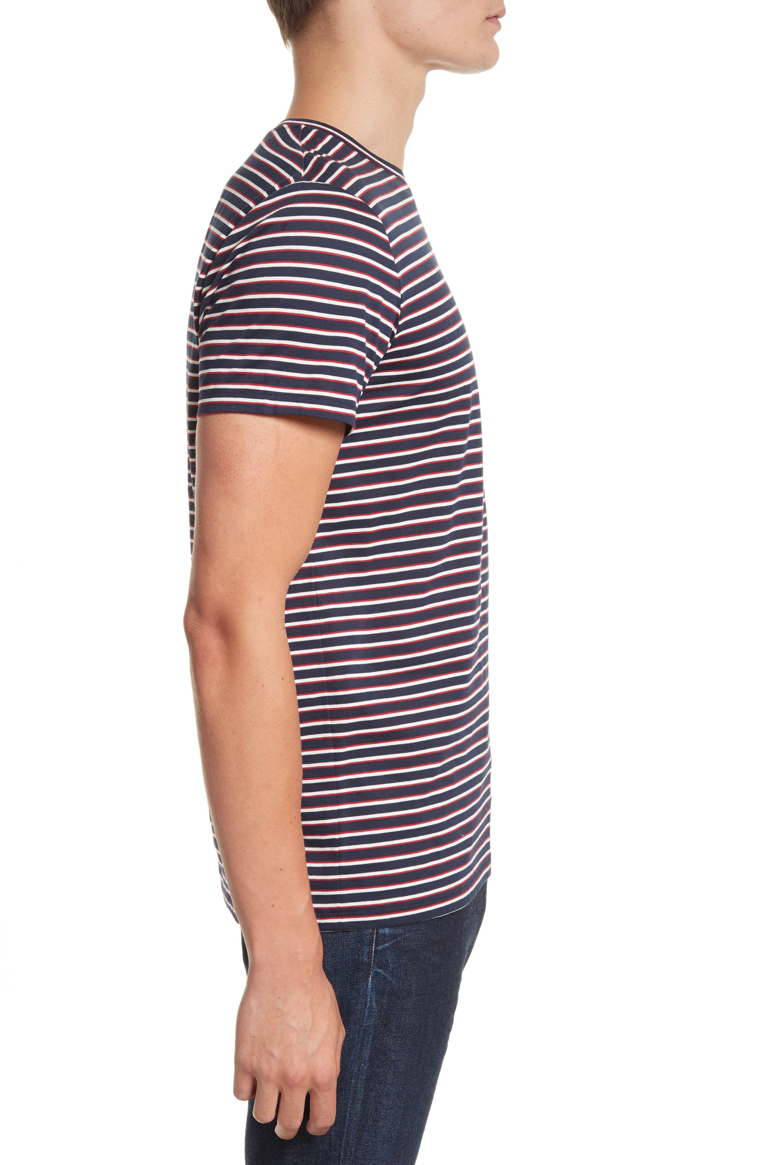Elliot Stripe T-Shirt,                             Alternate thumbnail 3, color,                             420