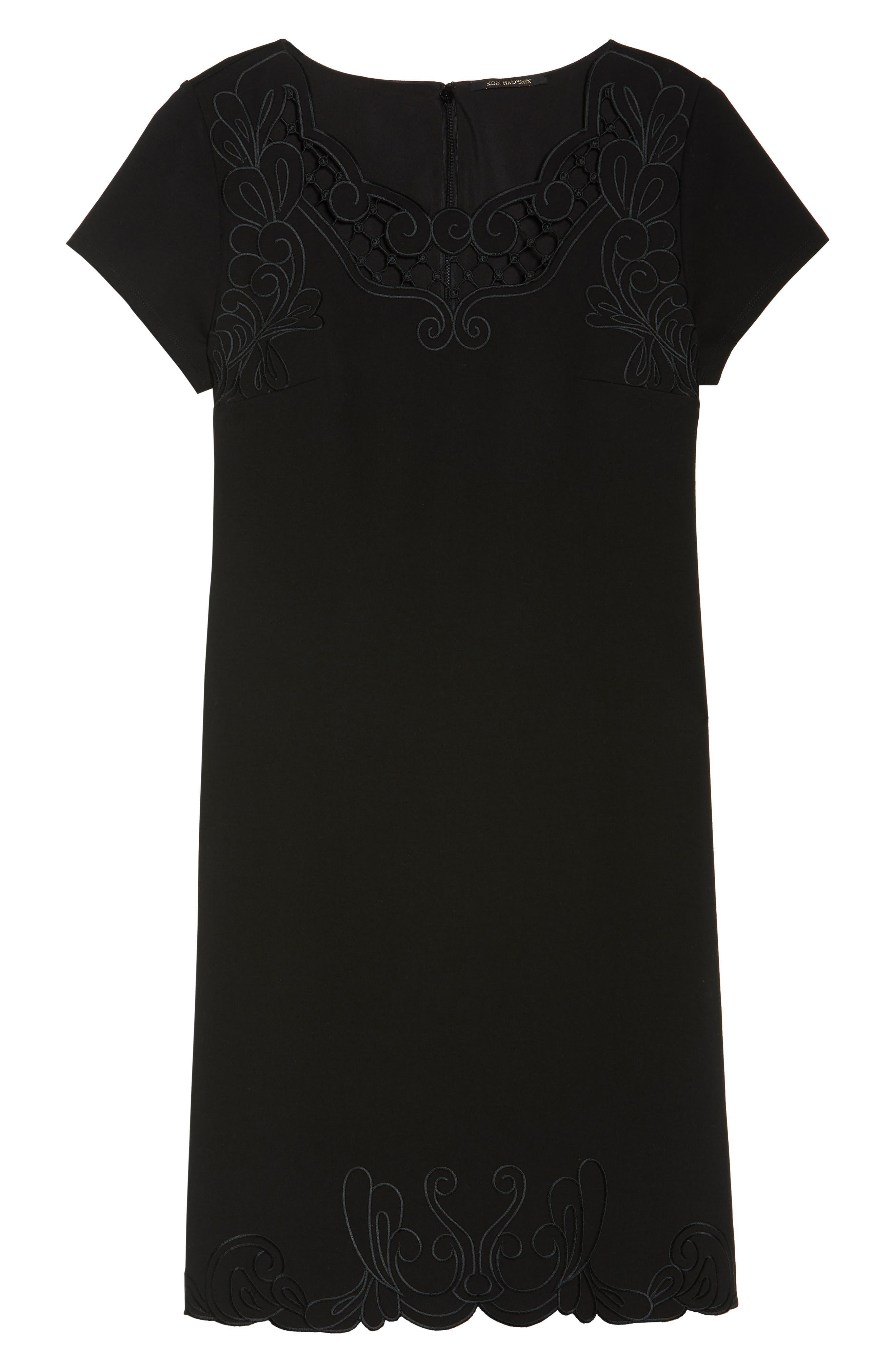 KOBI HALPERIN,                             Tavi Cutout Neckline Dress,                             Alternate thumbnail 6, color,                             001