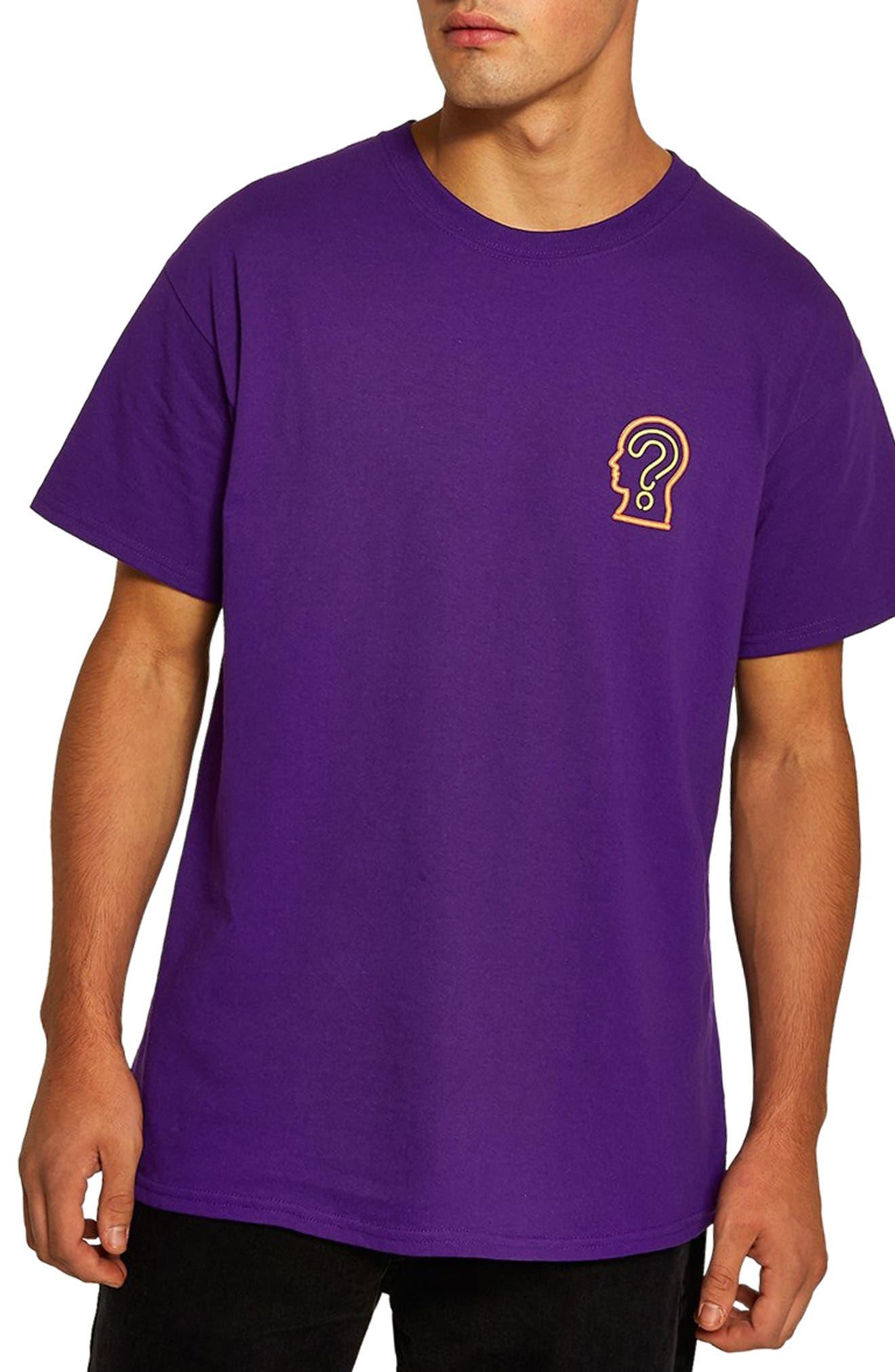 On Your Mind Graphic T-Shirt,                             Main thumbnail 1, color,                             PURPLE MULTI