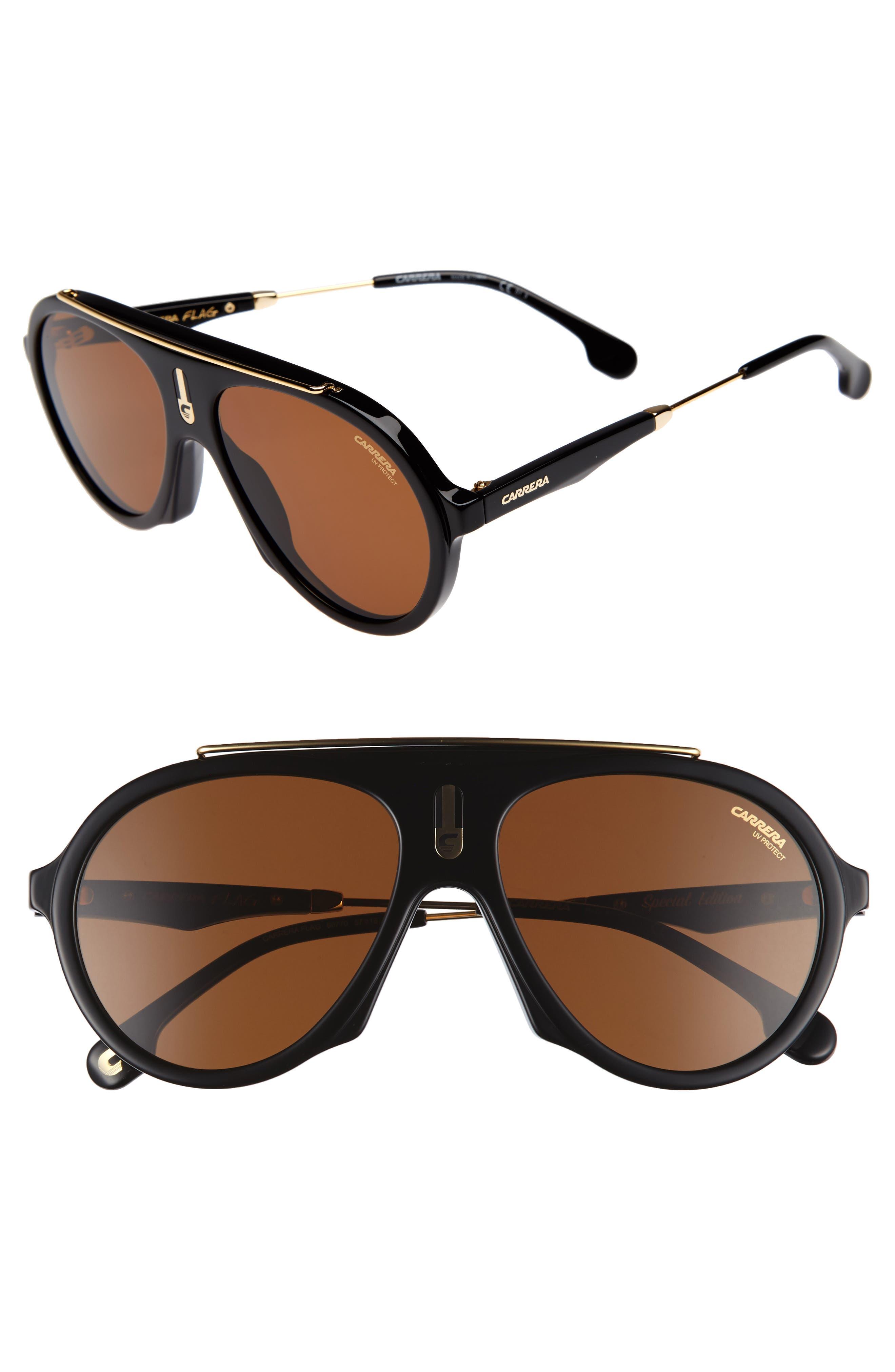 Carrera Flag 57mm Mirrored Pilot Sunglasses,                             Main thumbnail 2, color,