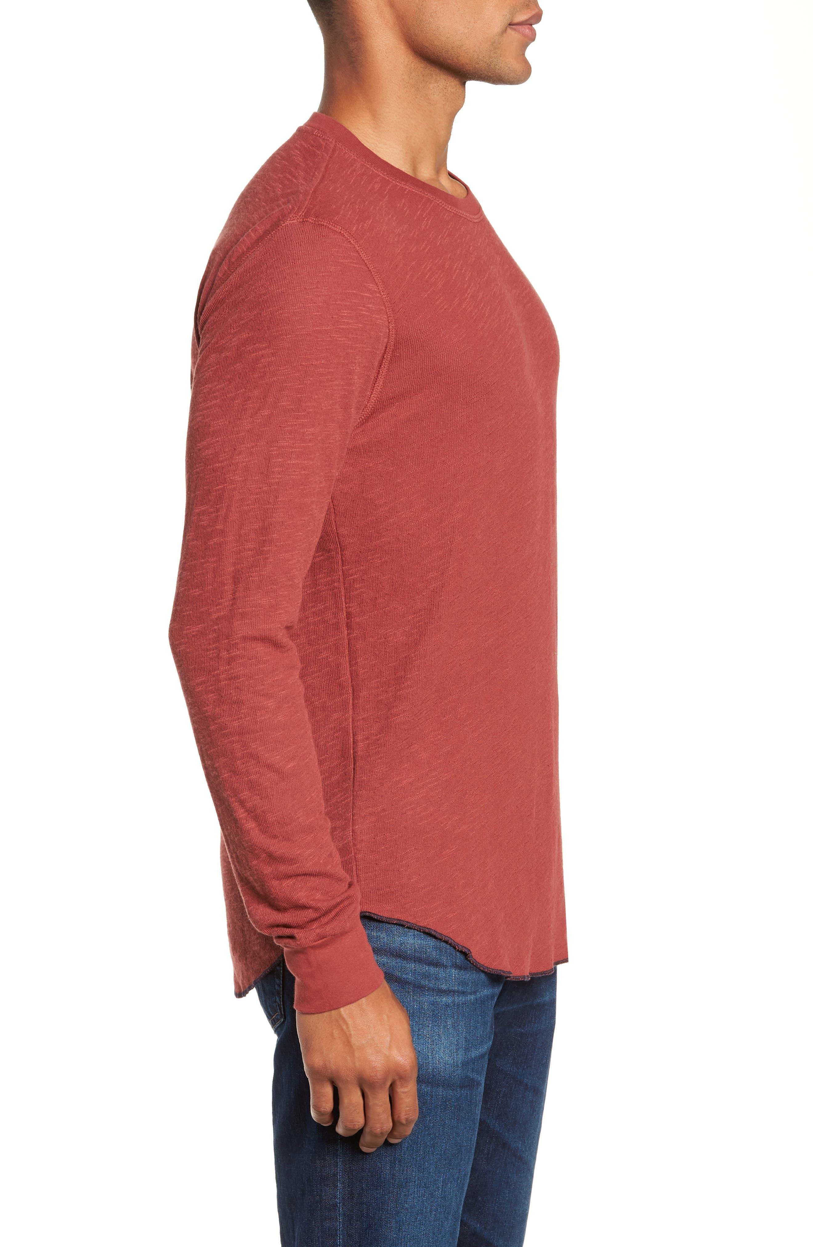 Double Layer Slim Crewneck T-Shirt,                             Alternate thumbnail 16, color,