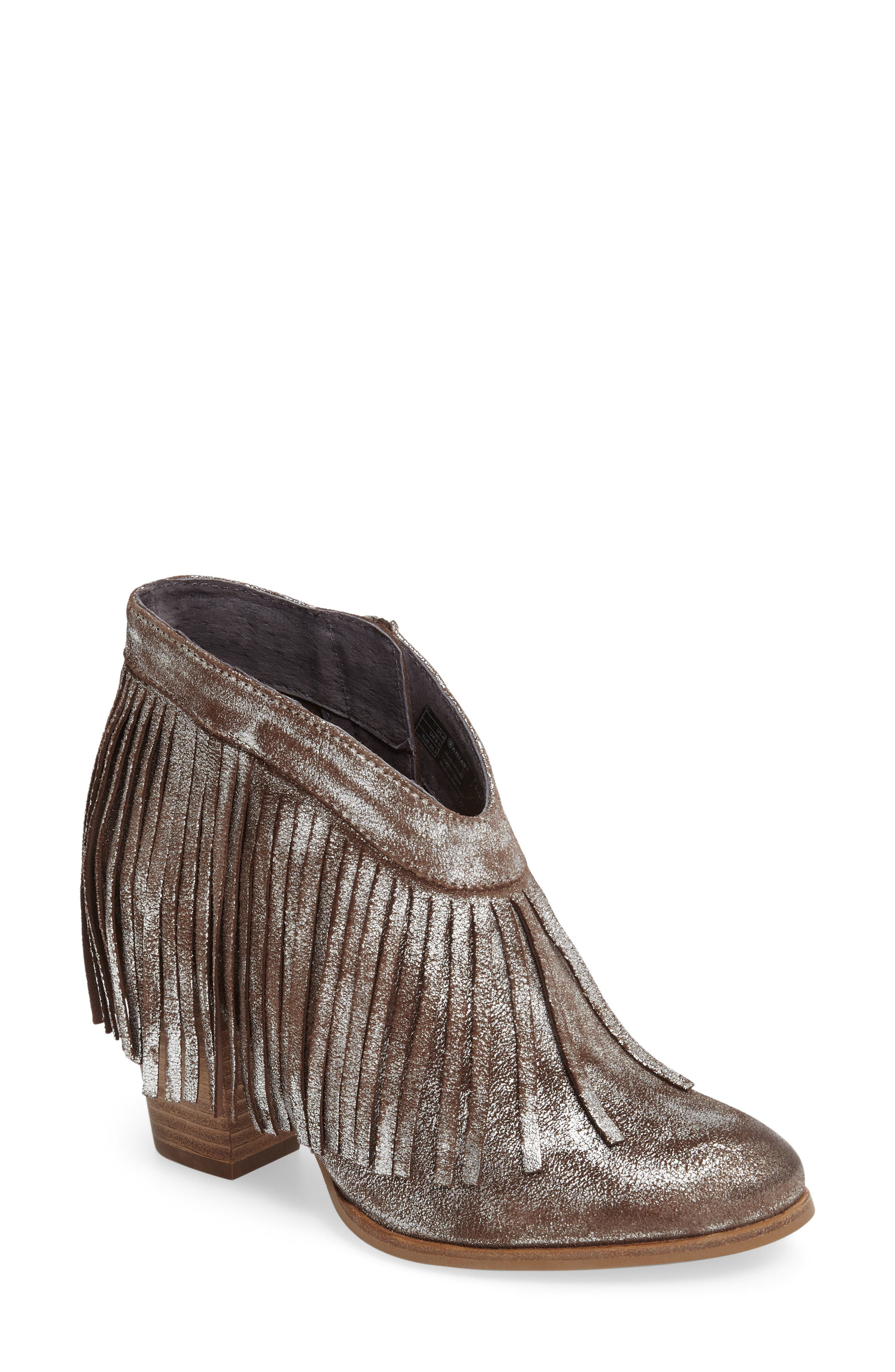 Unbridled Layla Fringed Bootie,                             Main thumbnail 1, color,                             040
