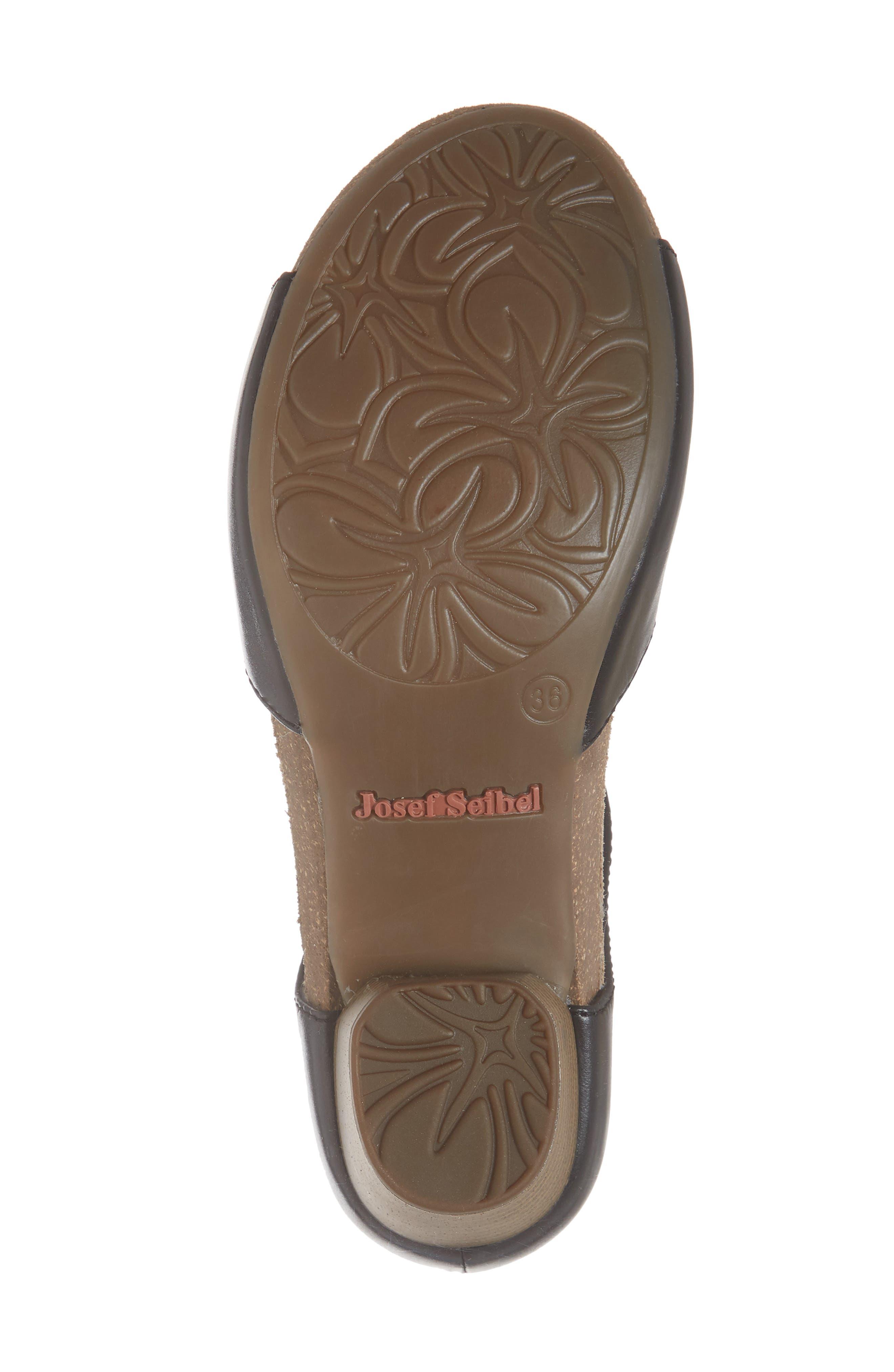 JOSEF SEIBEL,                             Rose 23 Tie Front Sandal,                             Alternate thumbnail 6, color,                             001