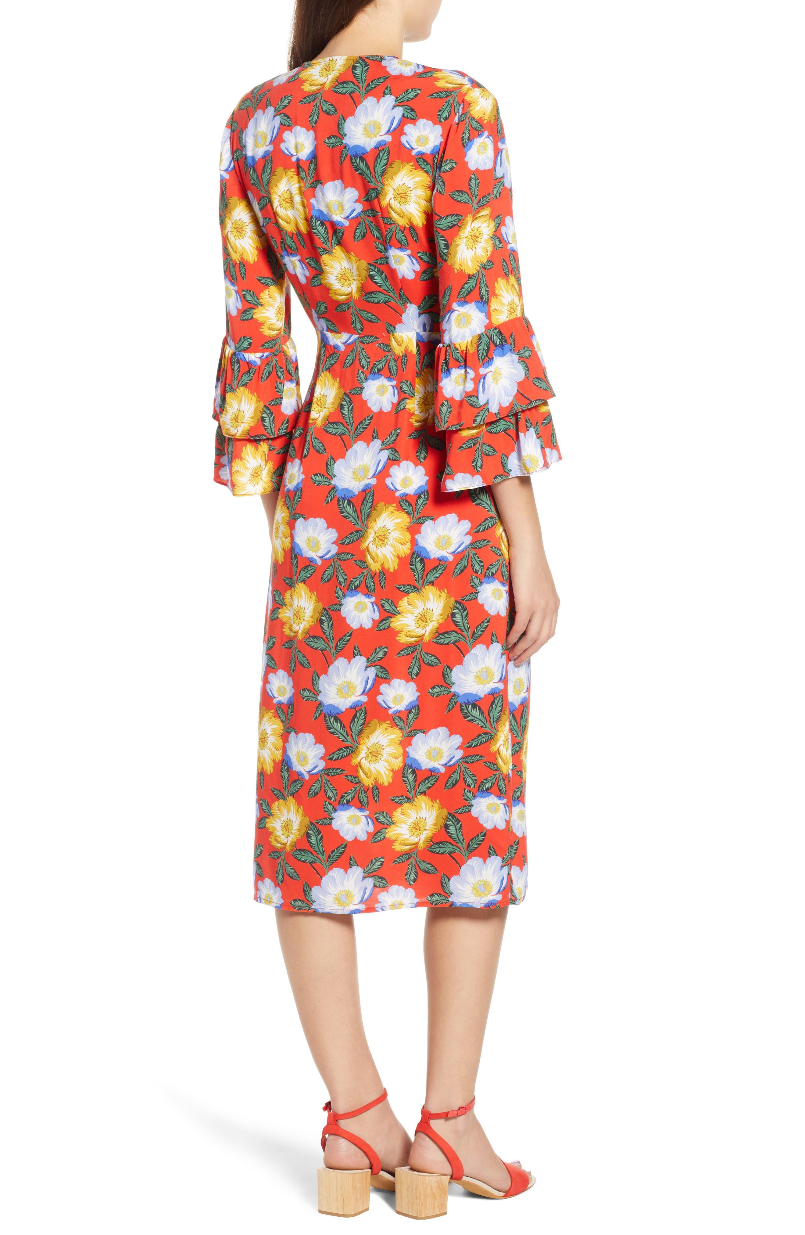 Reunion Floral Wrap Dress,                             Alternate thumbnail 2, color,                             800