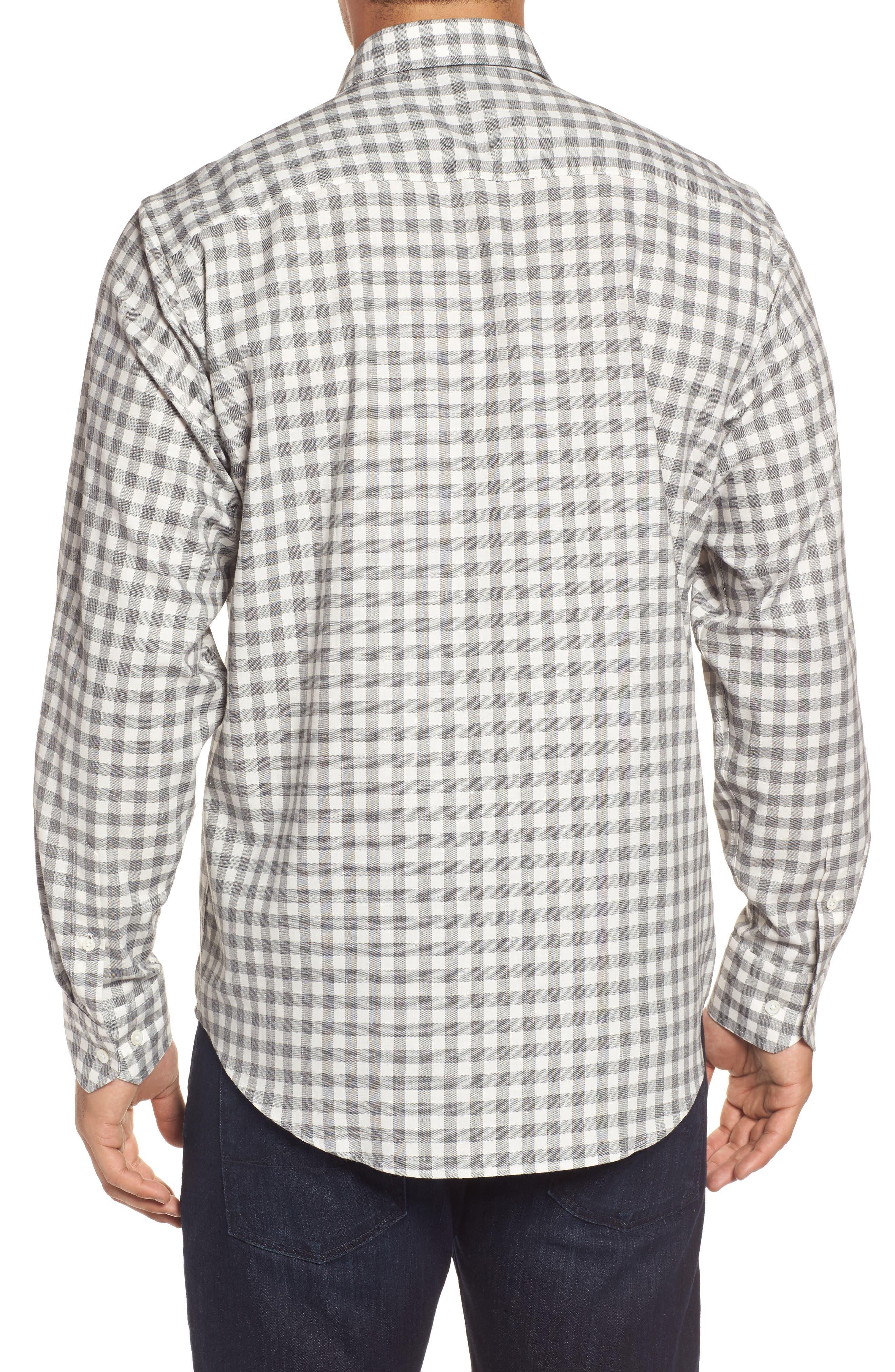 Classic Fit Slubbed Check Sport Shirt,                             Alternate thumbnail 2, color,                             020