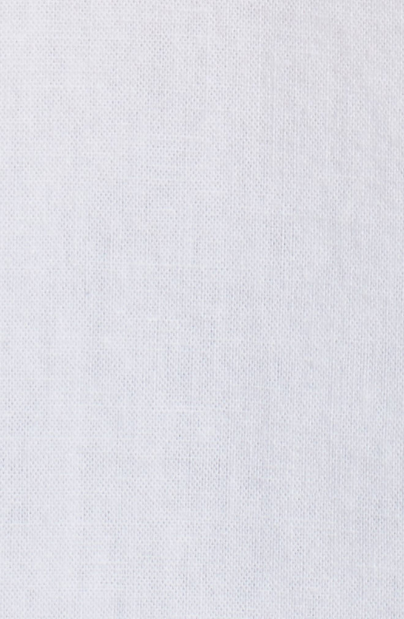 Colton Regular Fit Cotton & Linen Sport Shirt,                             Alternate thumbnail 5, color,                             TRUE WHITE