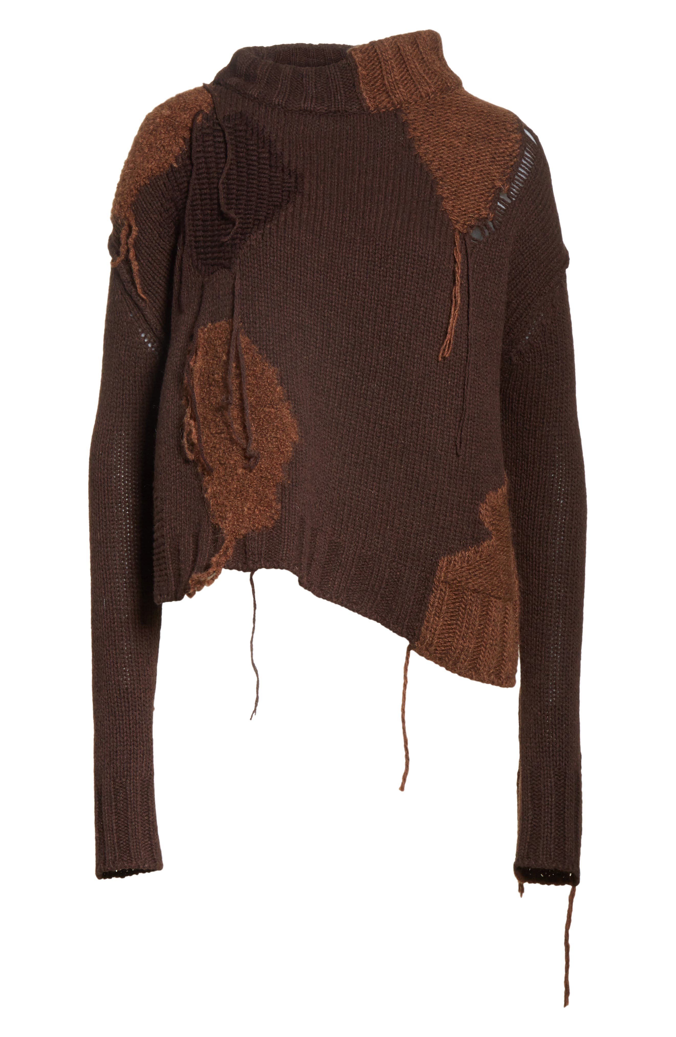 Ovira Distressed Patchwork Sweater,                             Alternate thumbnail 6, color,                             200