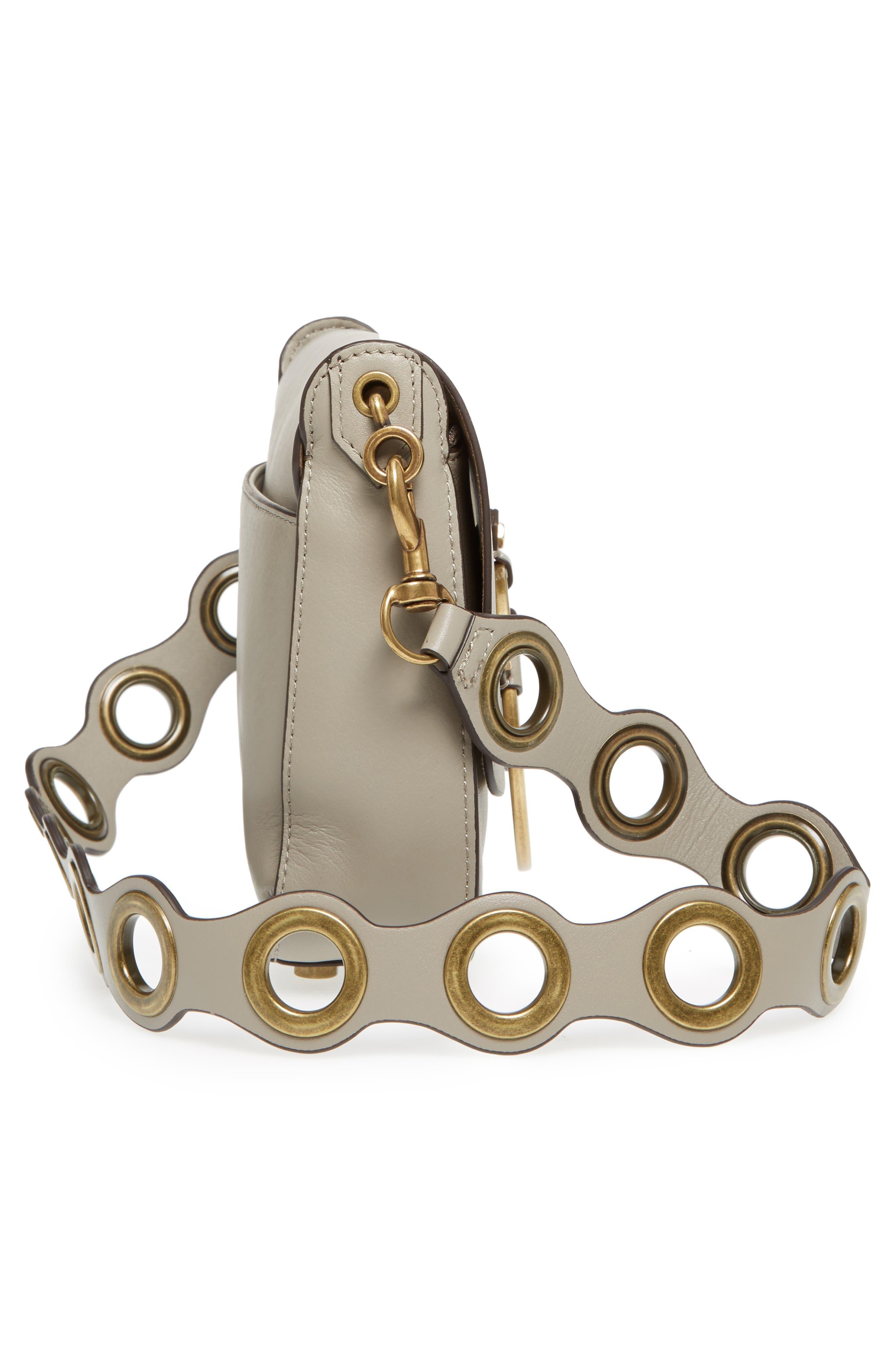 Ring Leather Shoulder Bag,                             Alternate thumbnail 10, color,