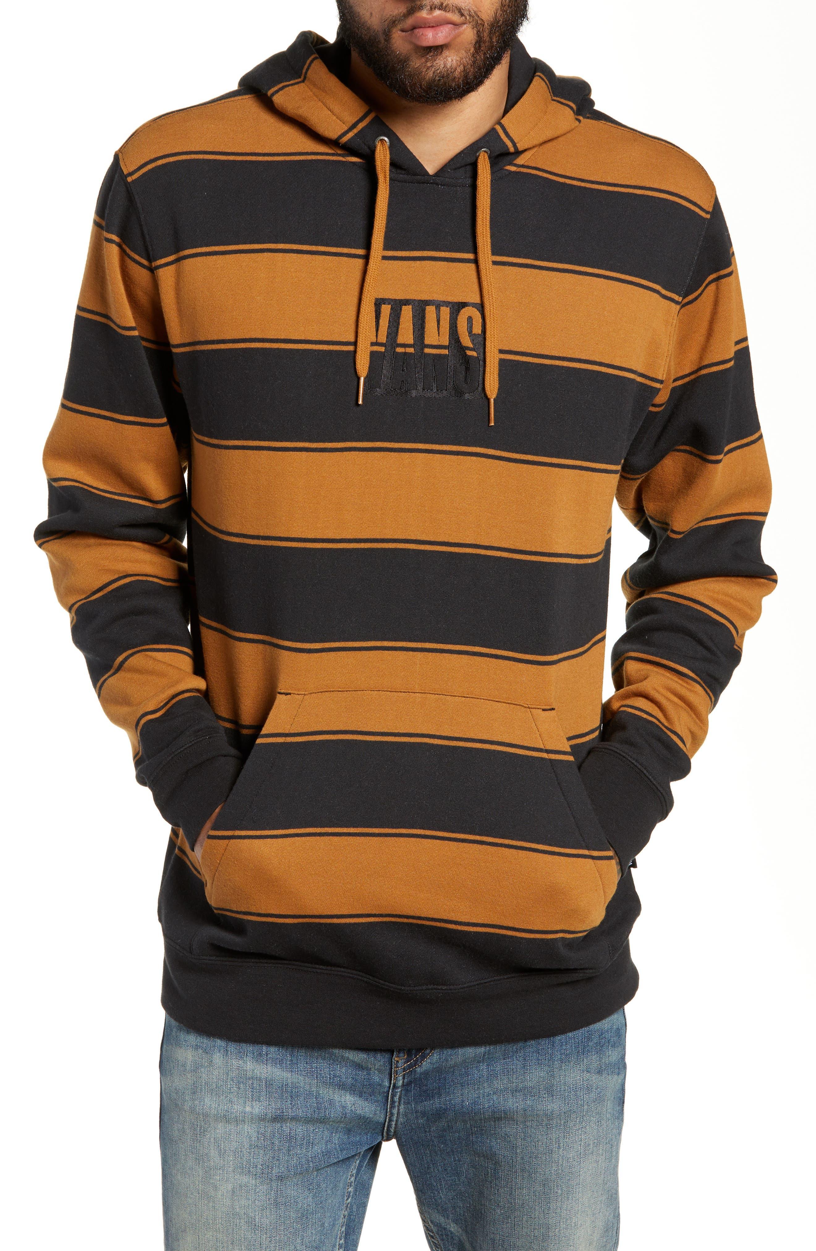 Tall Box Stripe Hoodie Sweatshirt, Main, color, 001