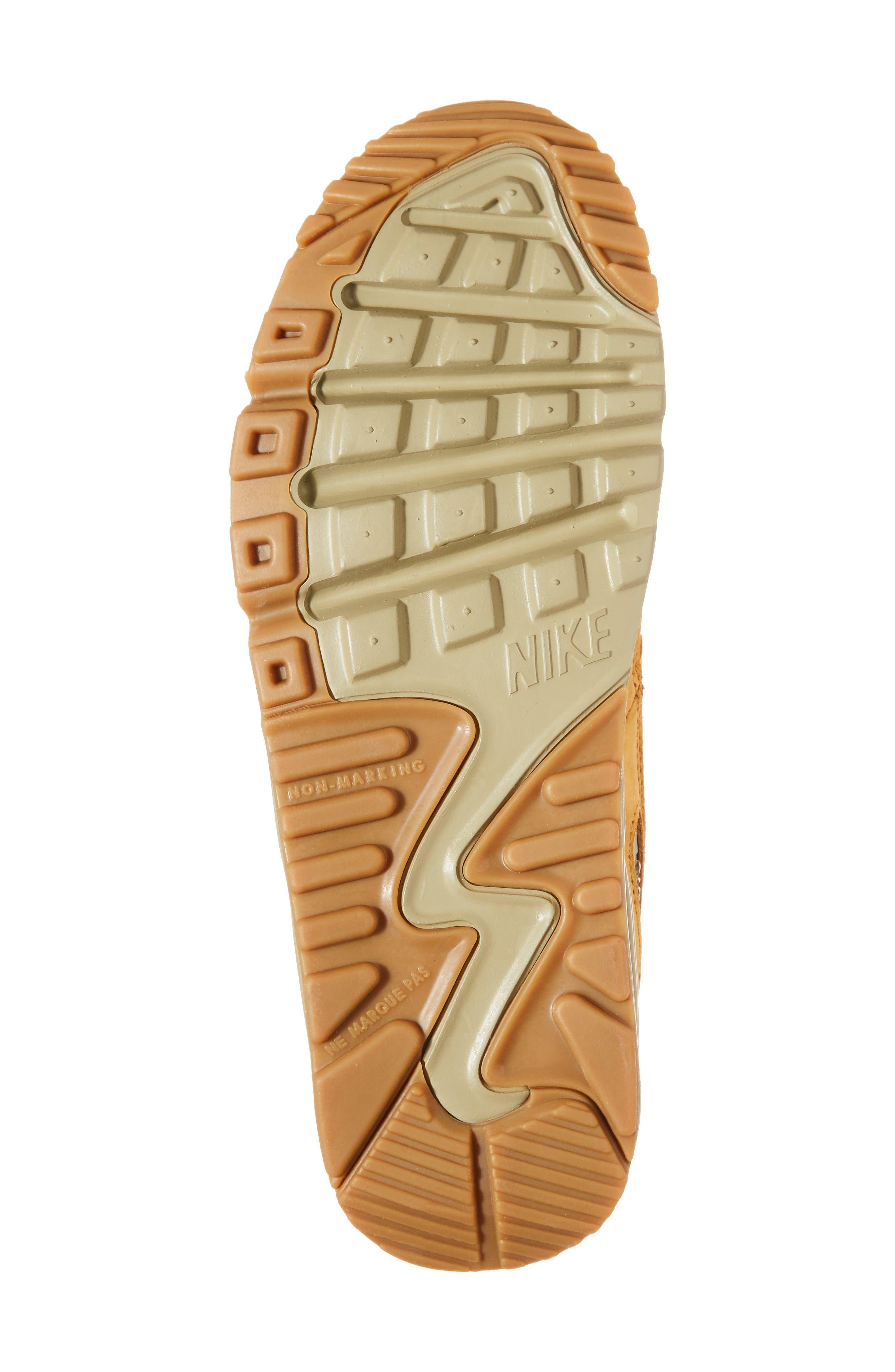Air Max 90 Winter Premium Sneaker,                             Alternate thumbnail 6, color,                             BRONZE
