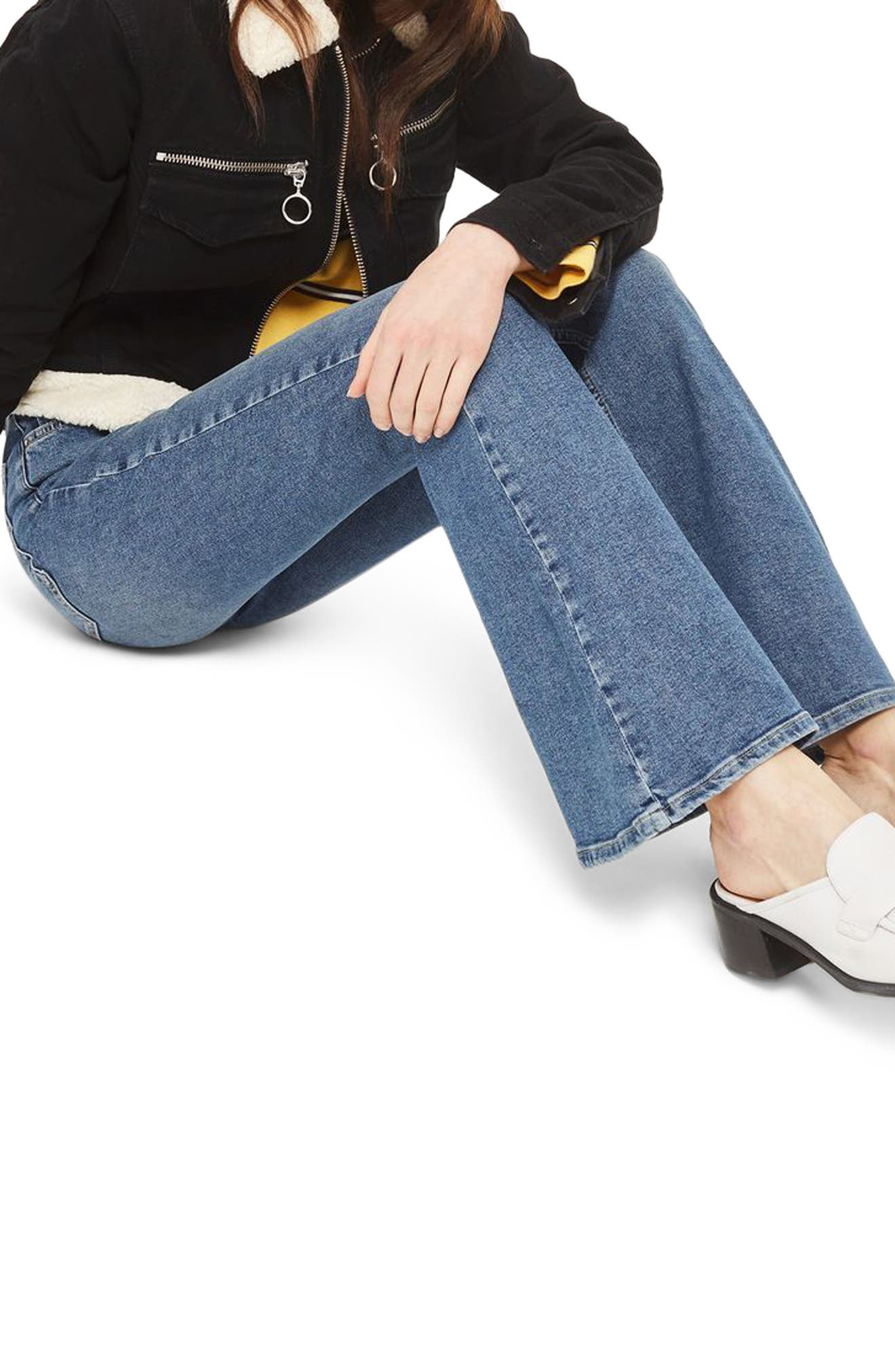 Jamie Flare Leg Jeans,                             Alternate thumbnail 3, color,                             400