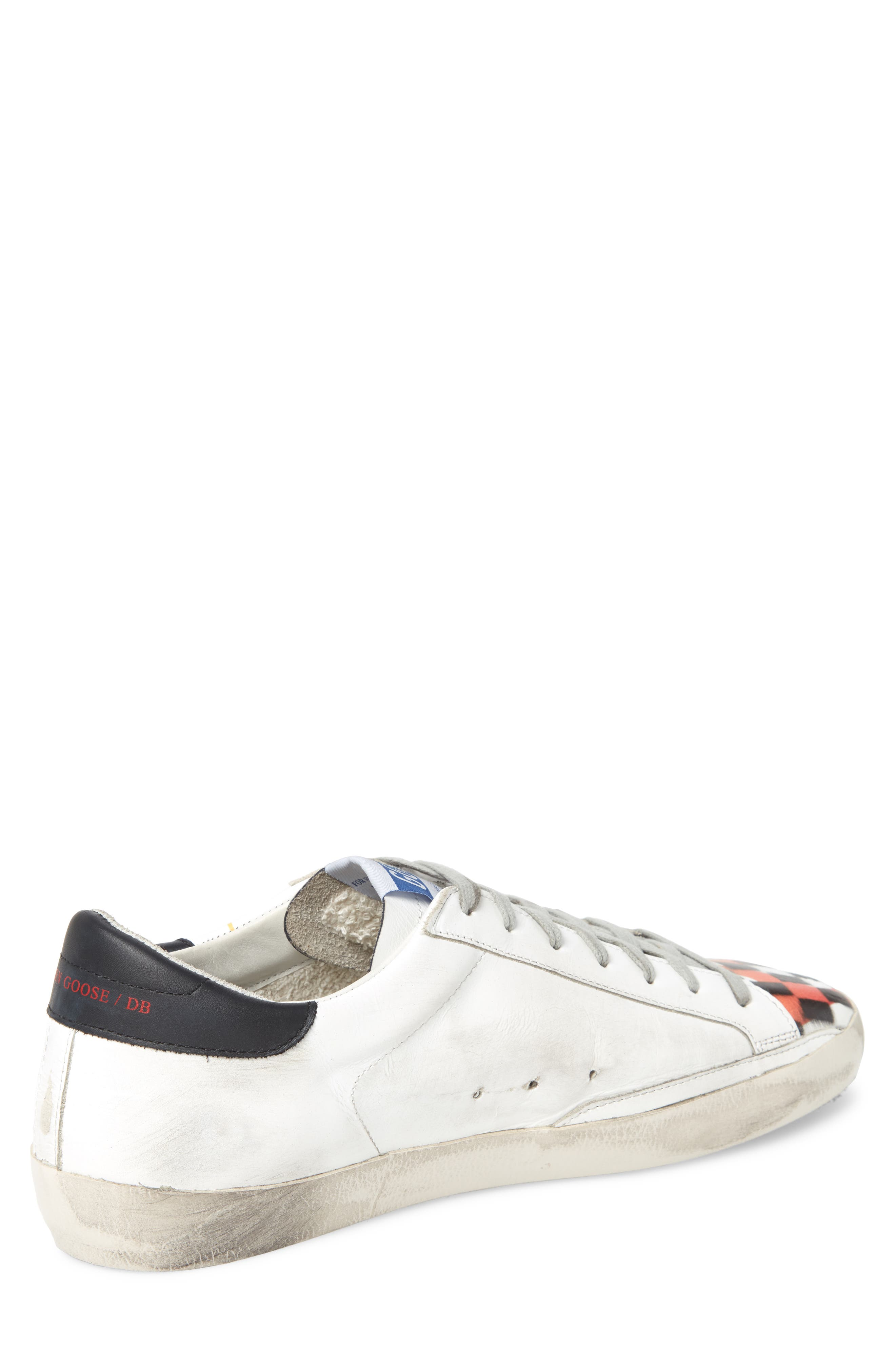 Superstar Low Top Sneaker,                             Alternate thumbnail 2, color,                             WHITE FLAME DAMA