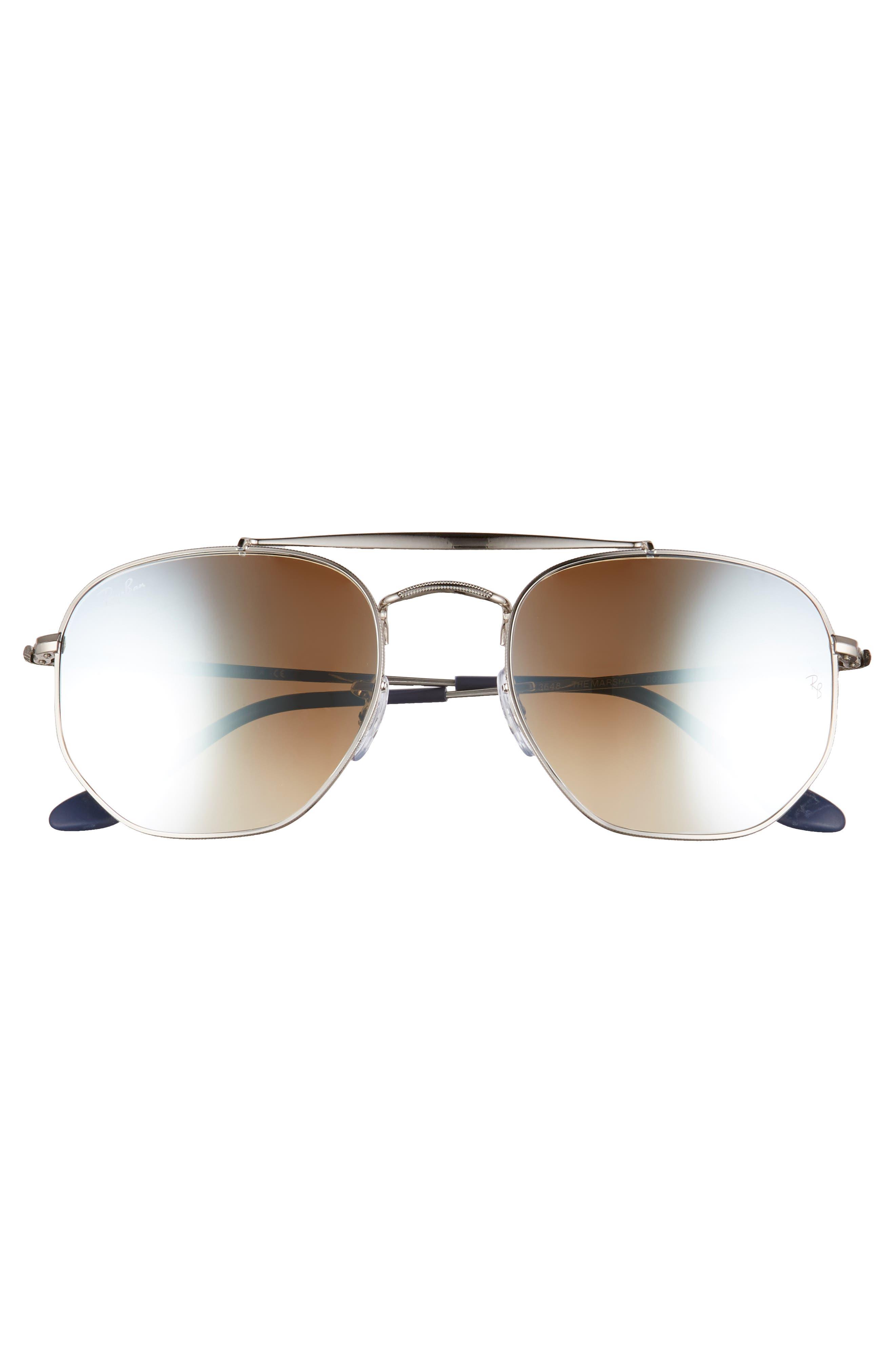 Marshal 54mm Aviator Sunglasses,                             Alternate thumbnail 2, color,                             SILVER