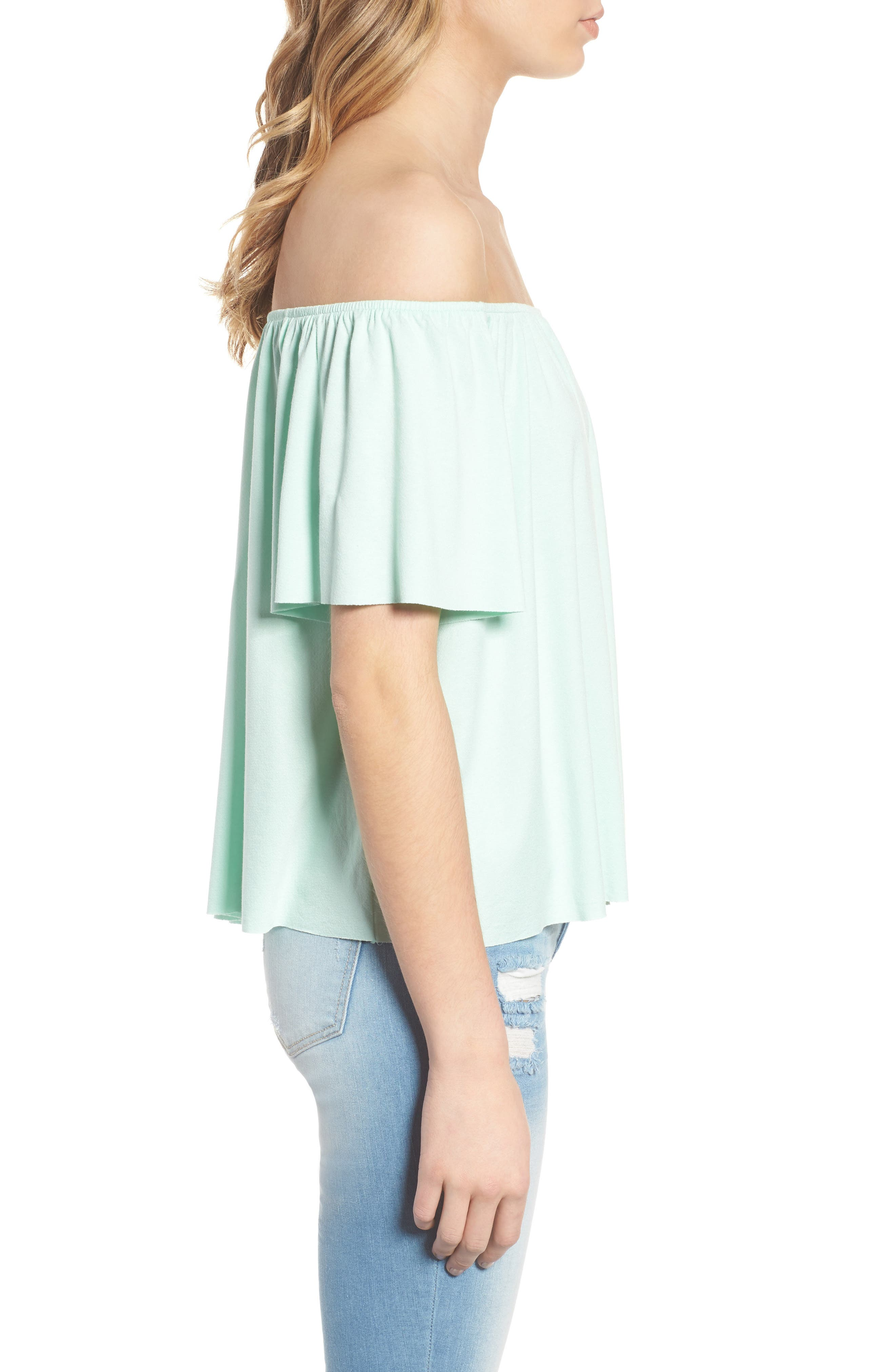 Off the Shoulder Top,                             Alternate thumbnail 18, color,