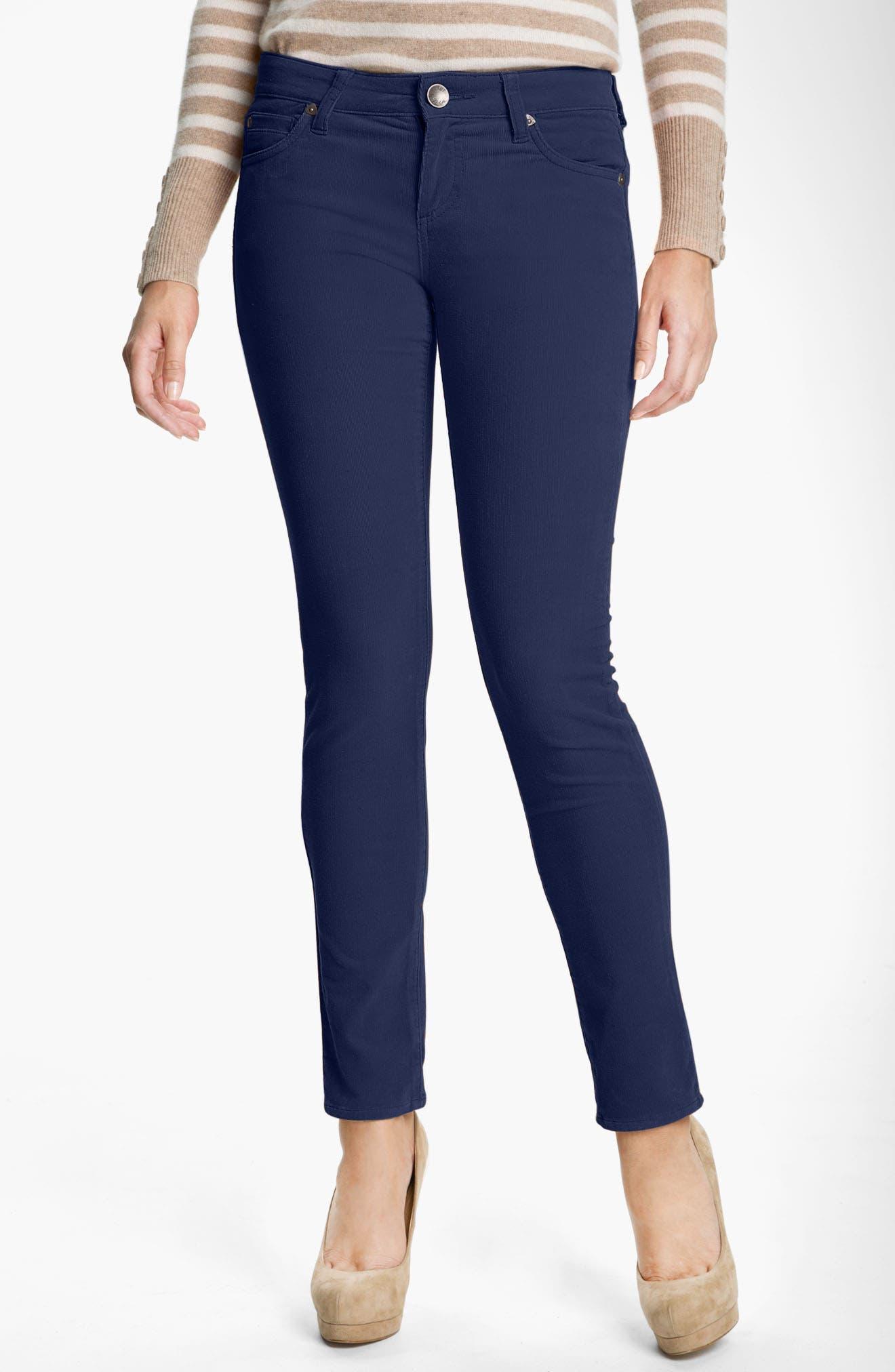 'Diana' Stretch Corduroy Skinny Pants,                             Alternate thumbnail 266, color,