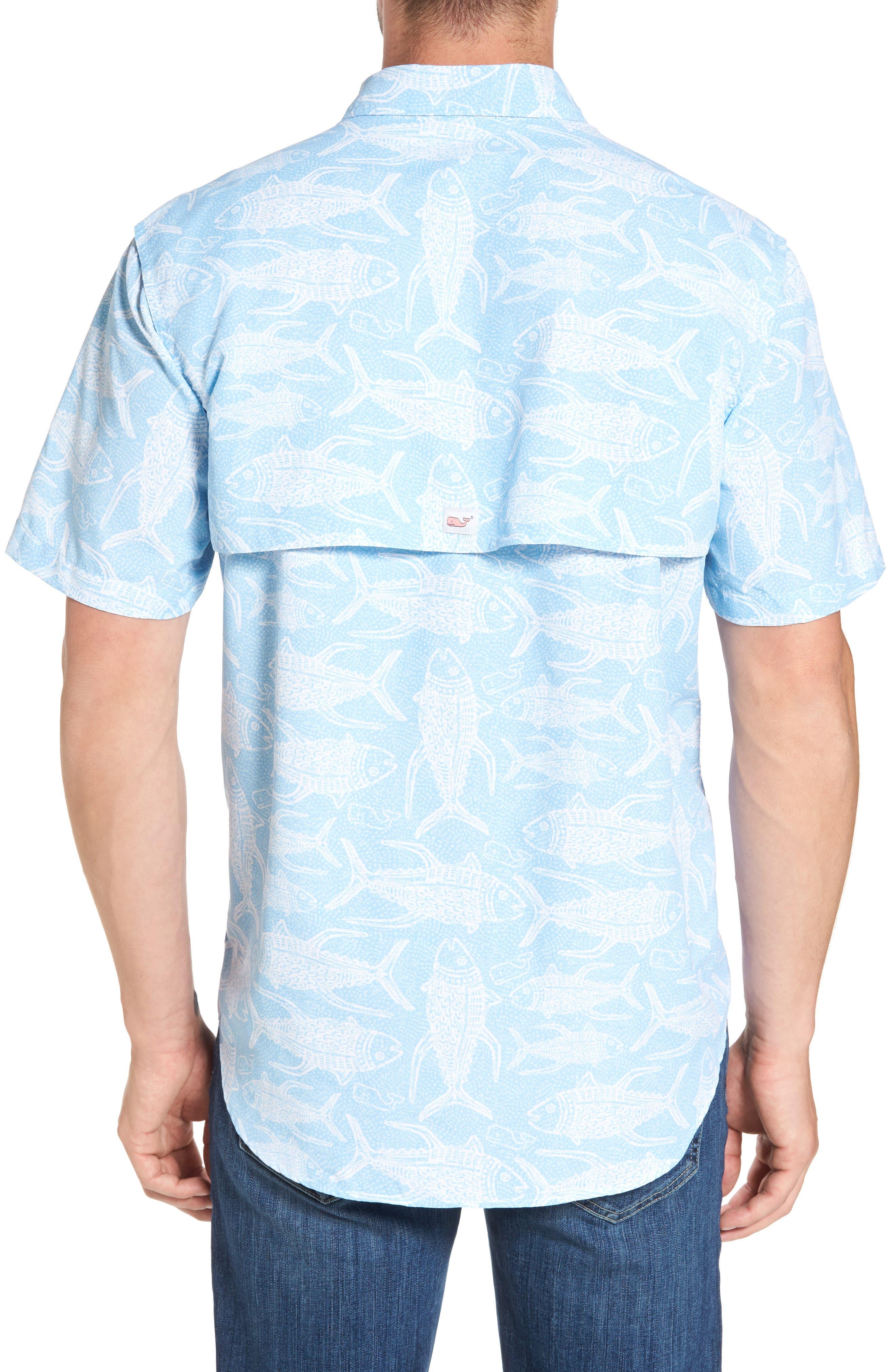 VINEYARD VINES,                             Tuna Batic Harbor Short Sleeve Sport Shirt,                             Alternate thumbnail 2, color,                             456