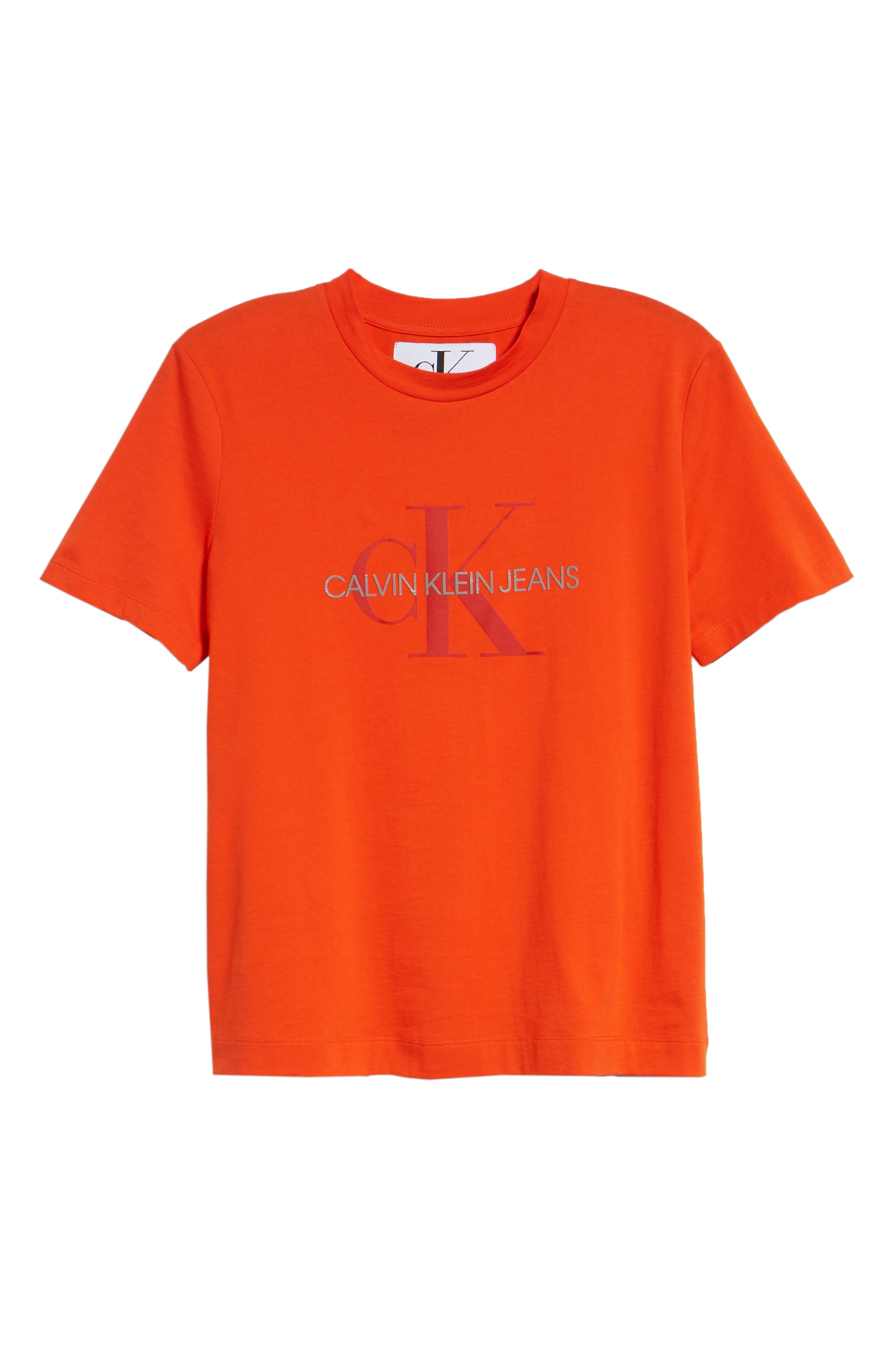 Logo Graphic Tee,                             Alternate thumbnail 6, color,                             PUMPKIN RED
