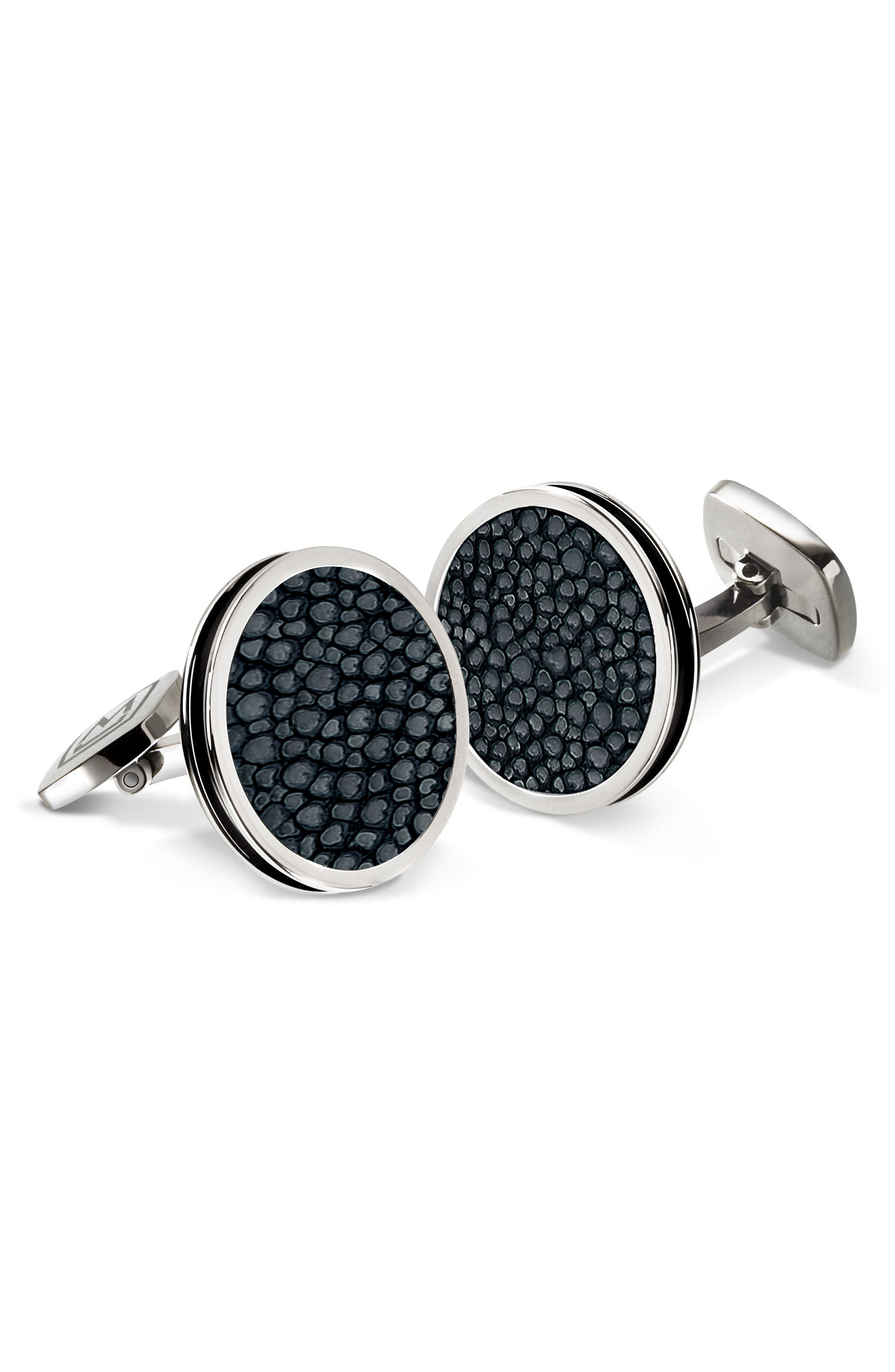 Stingray Cuff Links,                         Main,                         color, BLACK